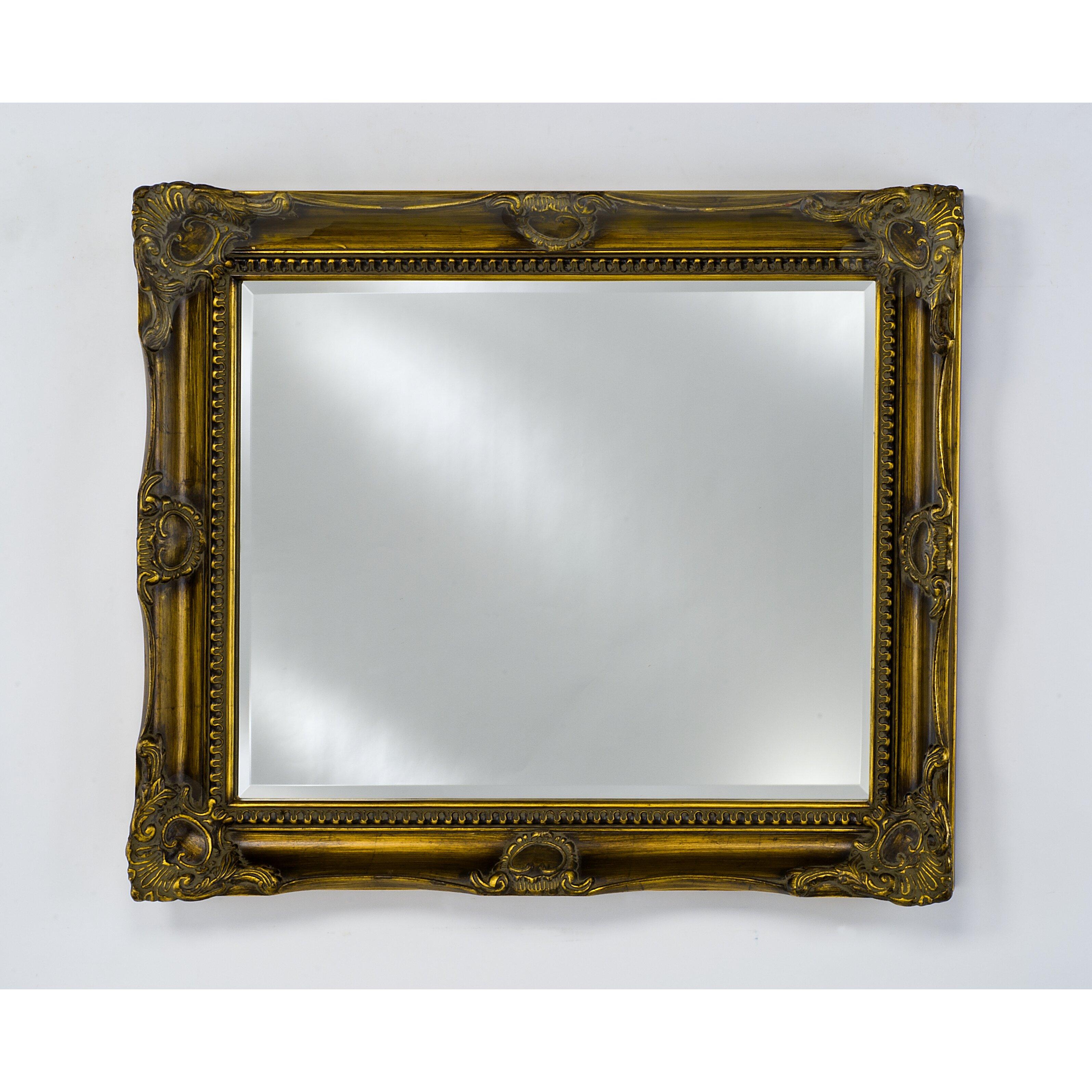 Bevelled Bathroom Mirror Afina Estate Bevel Framed Wall Mirror Reviews Wayfair