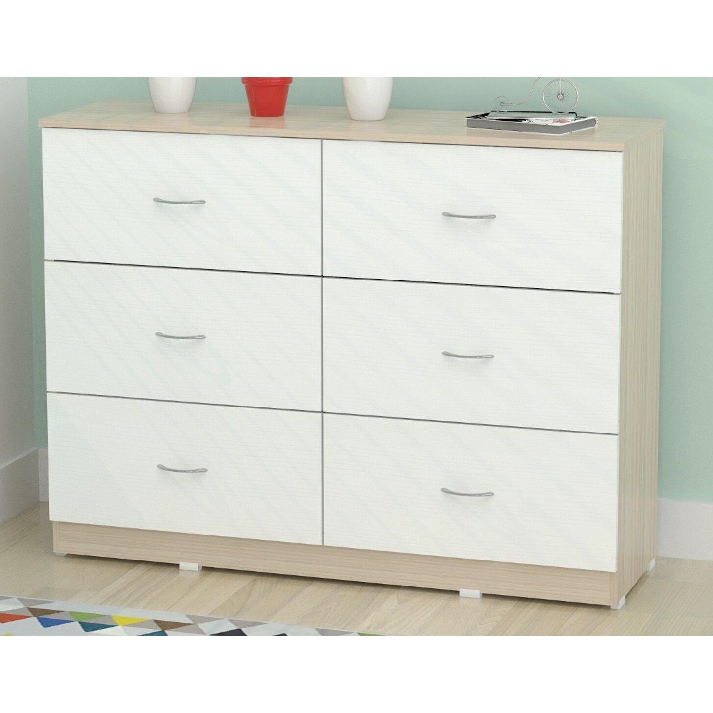 6 drawer dresser reviews allmodern for 1 door 6 drawer chest
