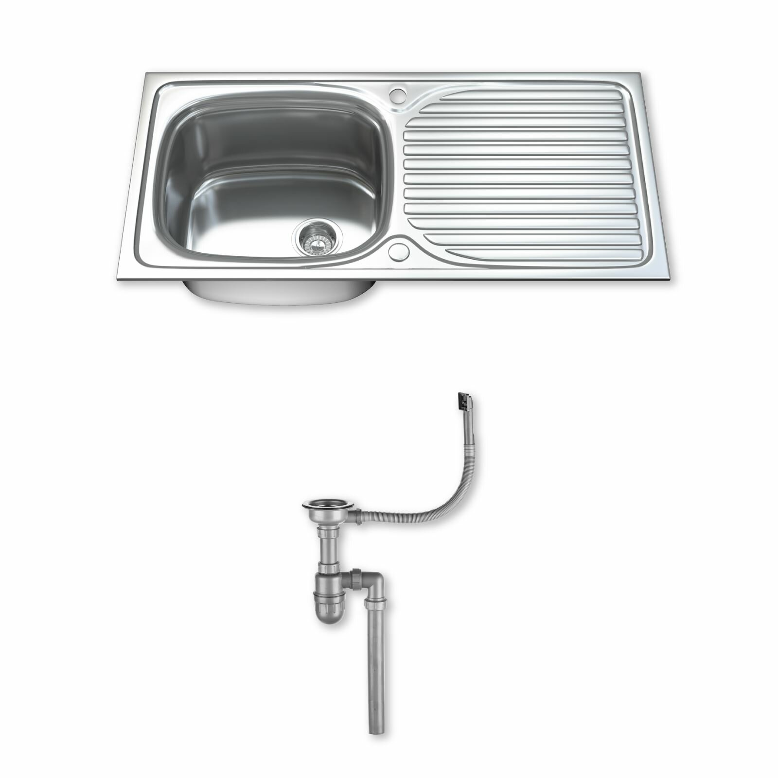 Dihl 100cm x 50cm Stainless Steel Kitchen Sink Wayfair.co.uk