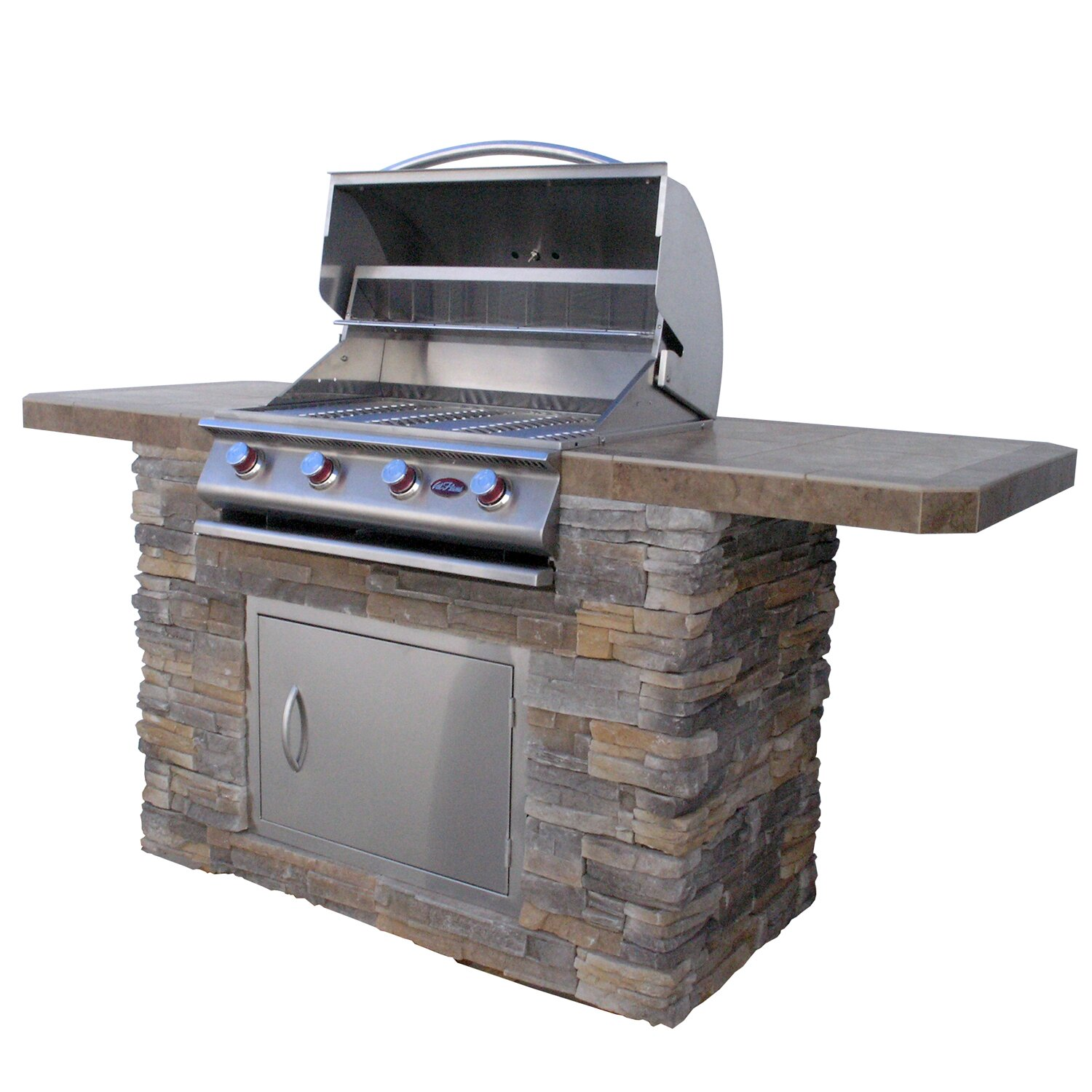 CalFlame Bistro 4-Burner Built-In Propane Gas Grill with ...