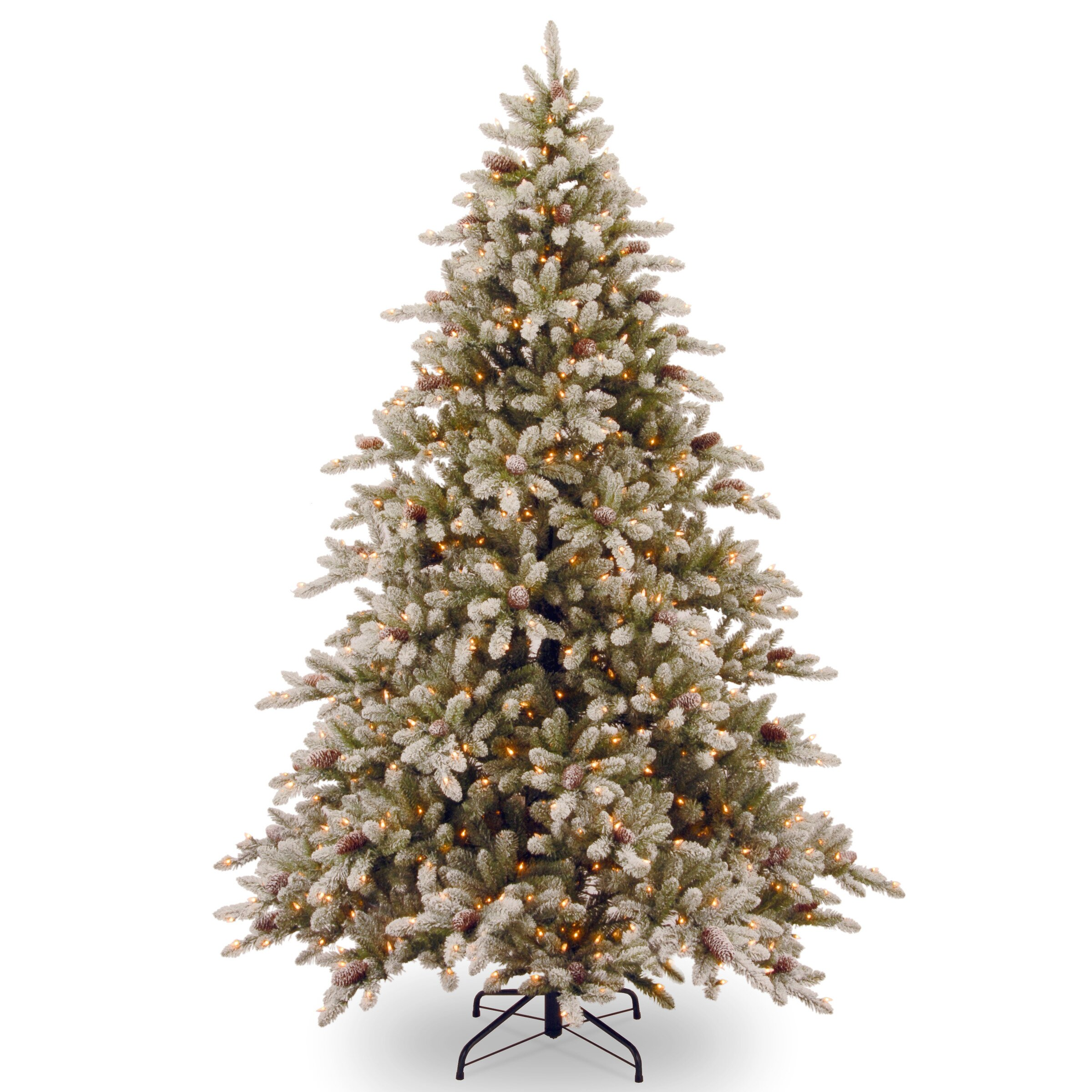 National Tree Co. 7.5' Snowy Concolor Fir Artificial Christmas ...