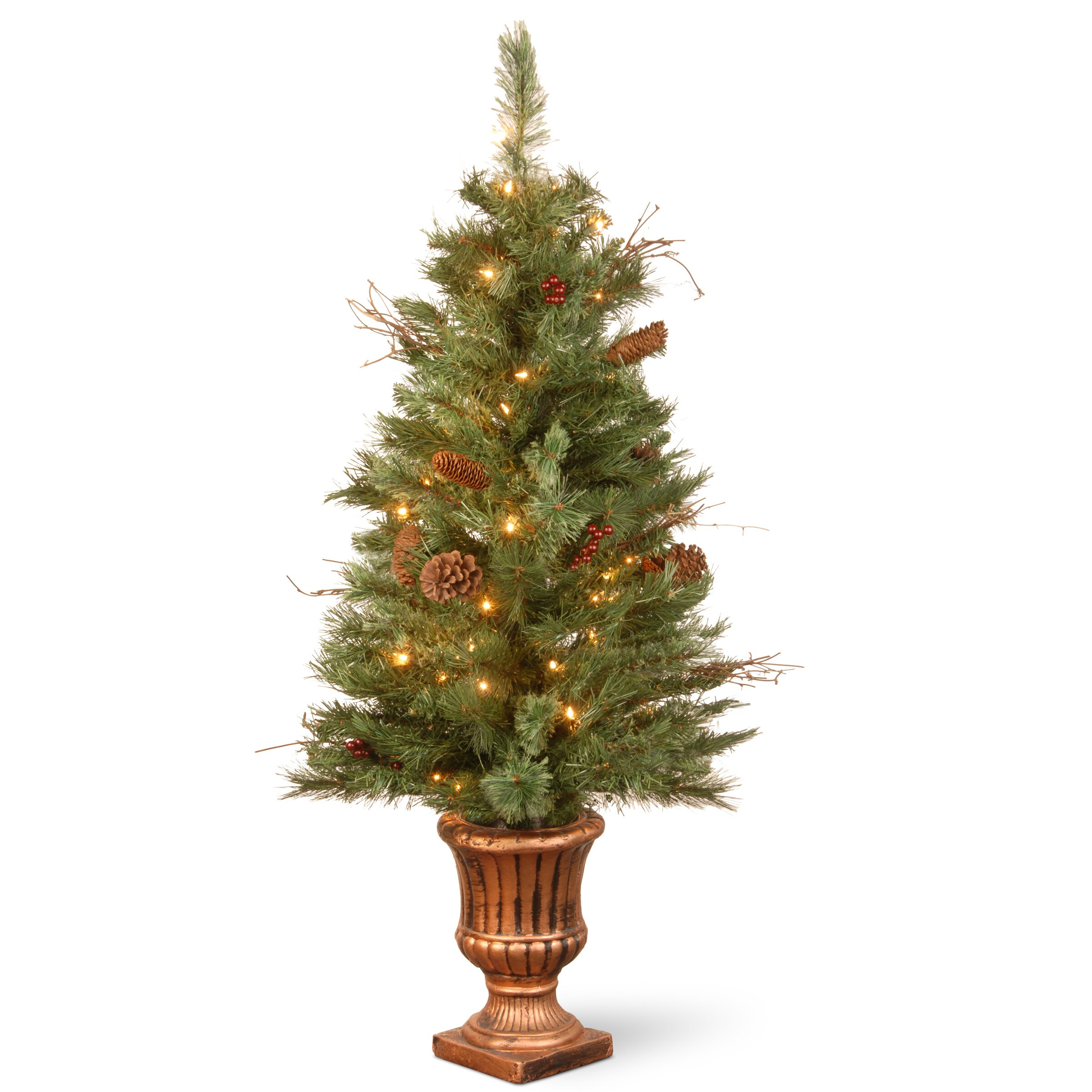 National Tree Co Glistening 4 39 Green Pine Artificial