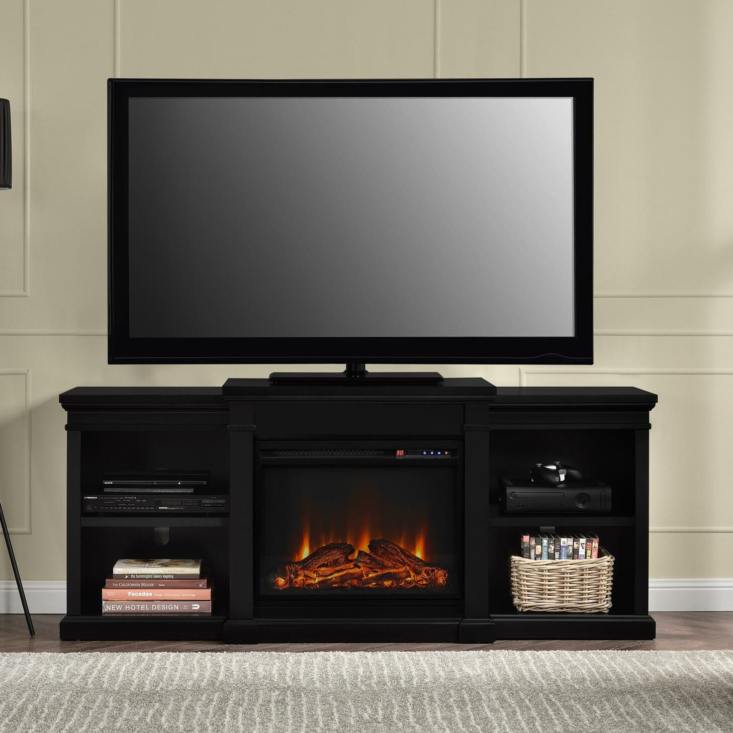 60 inch corner tv stand - Bryn Tv Stand With Electric Fireplace