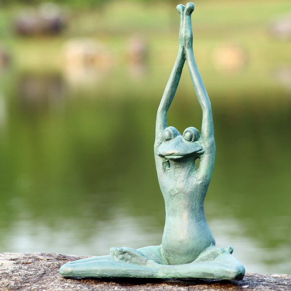 SPI Home Stretching Yoga Frog Garden Statue Reviews Wayfair