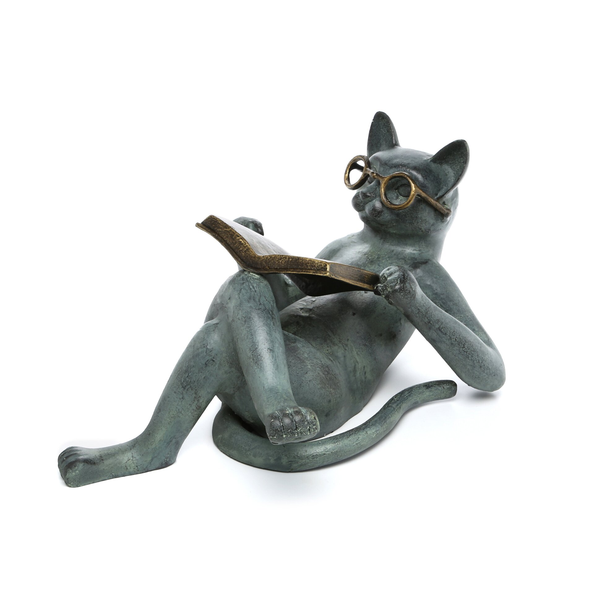 SPI Home Literary Cat Garden Statue Reviews Wayfair