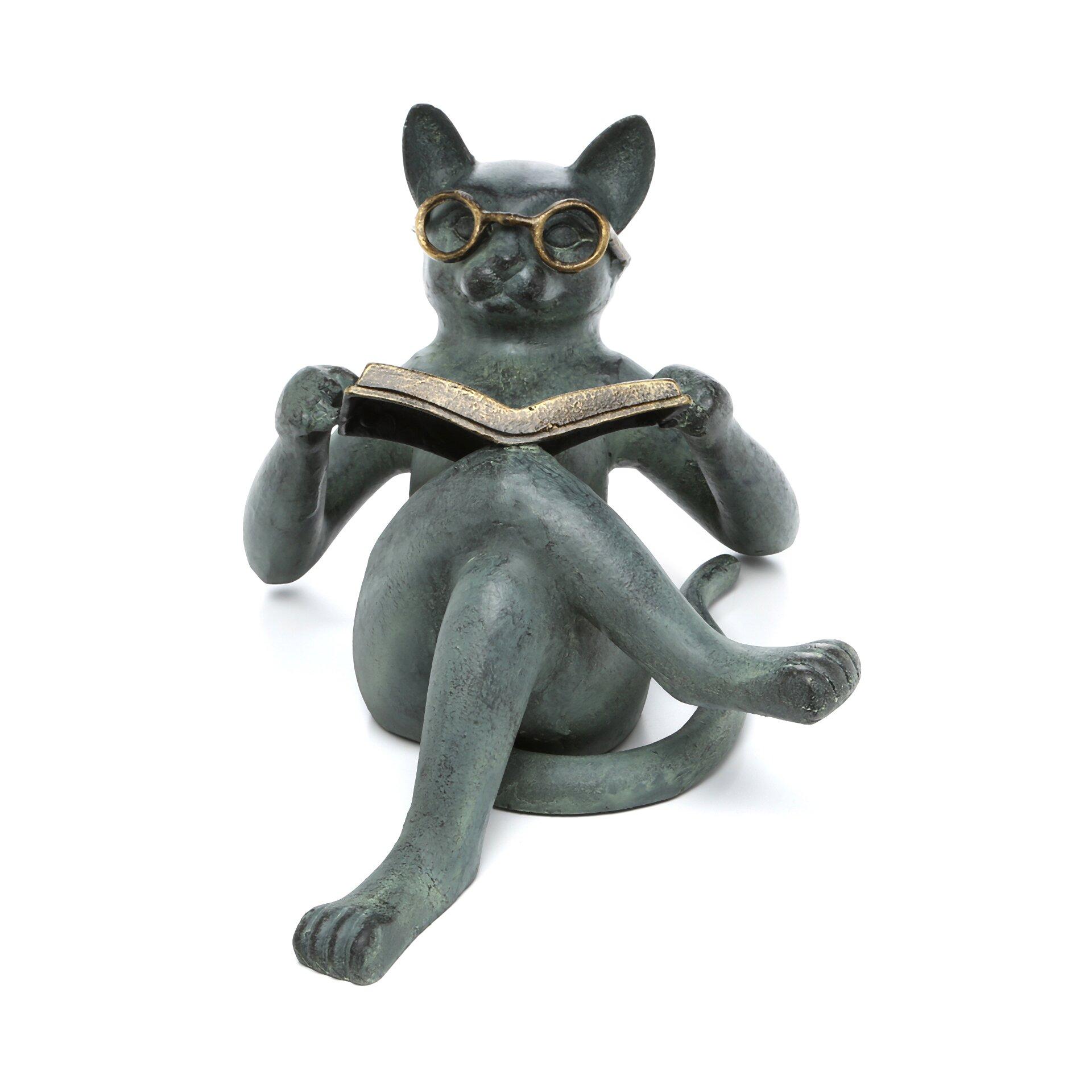 SPI Home Literary Cat Garden Statue Reviews Wayfair