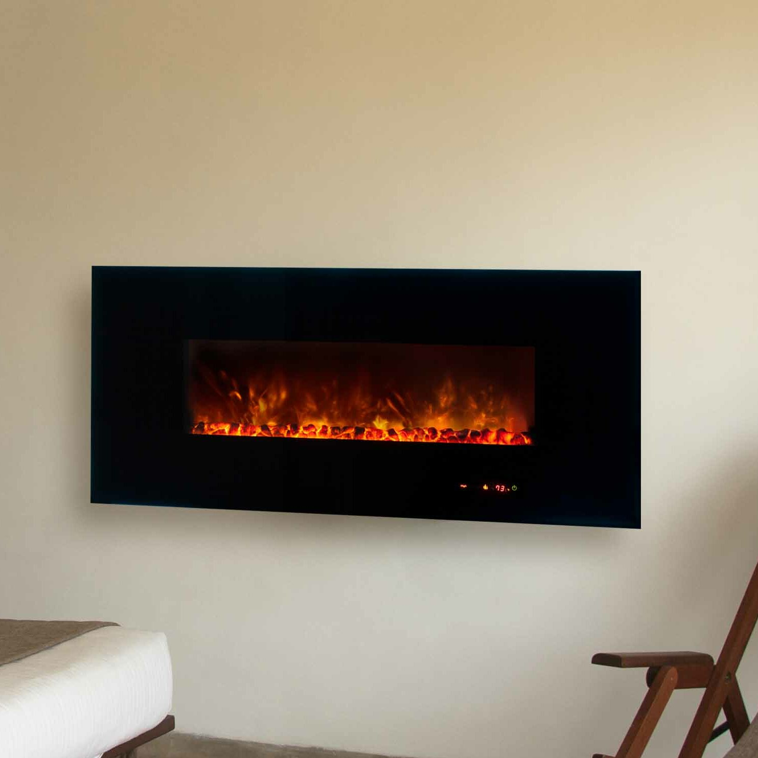 Modern Flames Dream Flame Linear Wall Mount Electric Fireplace Reviews Wayfair