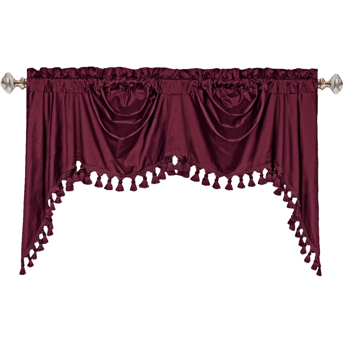 Swag curtains pattern - United Curtain Co Dupioni Silk Rod Pocket Swag 108 Quot Curtain Valance