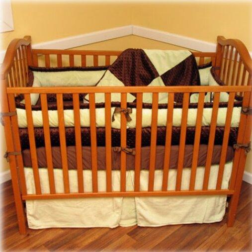 Ozark mountain kids chocolate mint 4 piece crib bedding for Mountain crib bedding