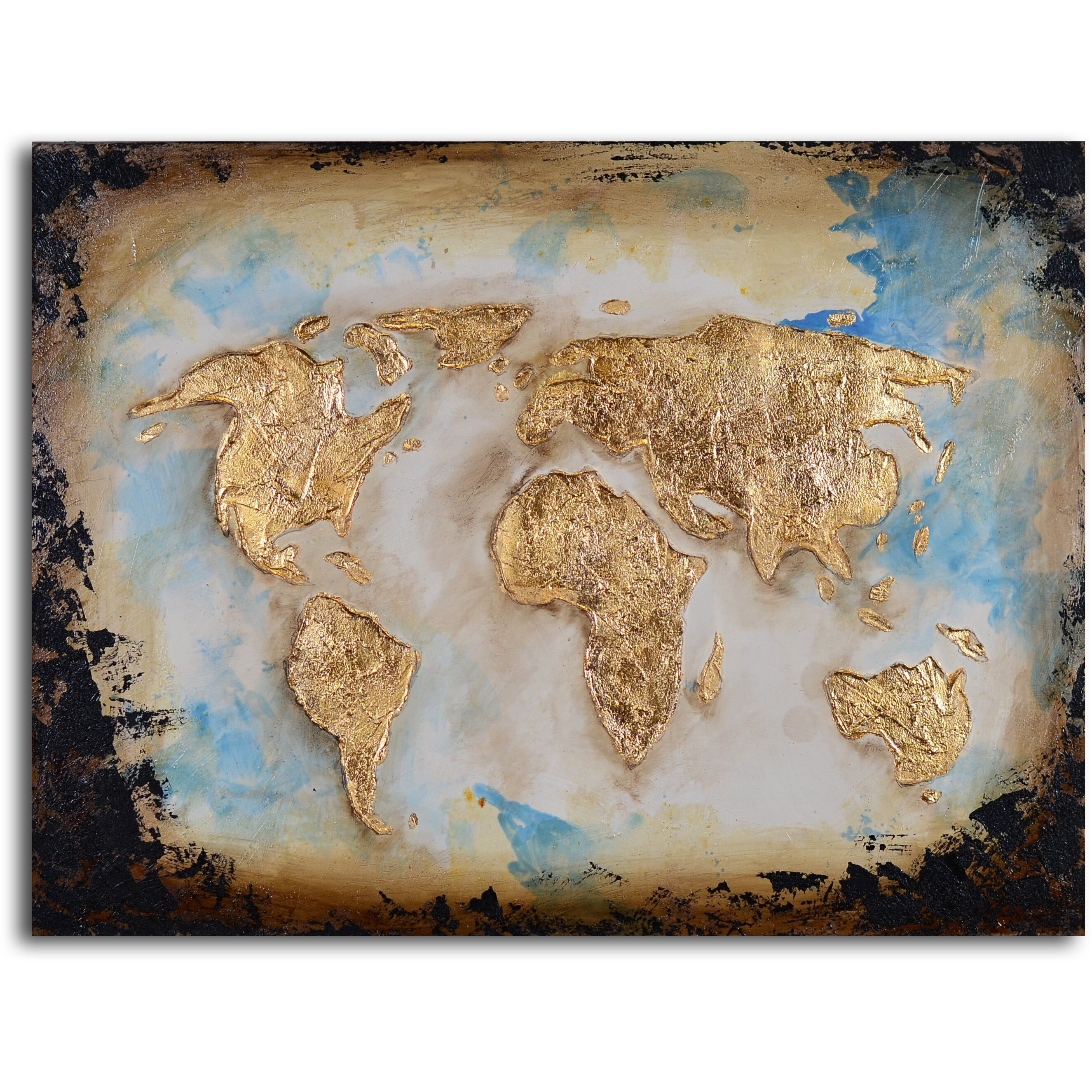 Co color art printing anchorage alaska - My Art Outlet Golden Globe Painting On Wrapped Canvas