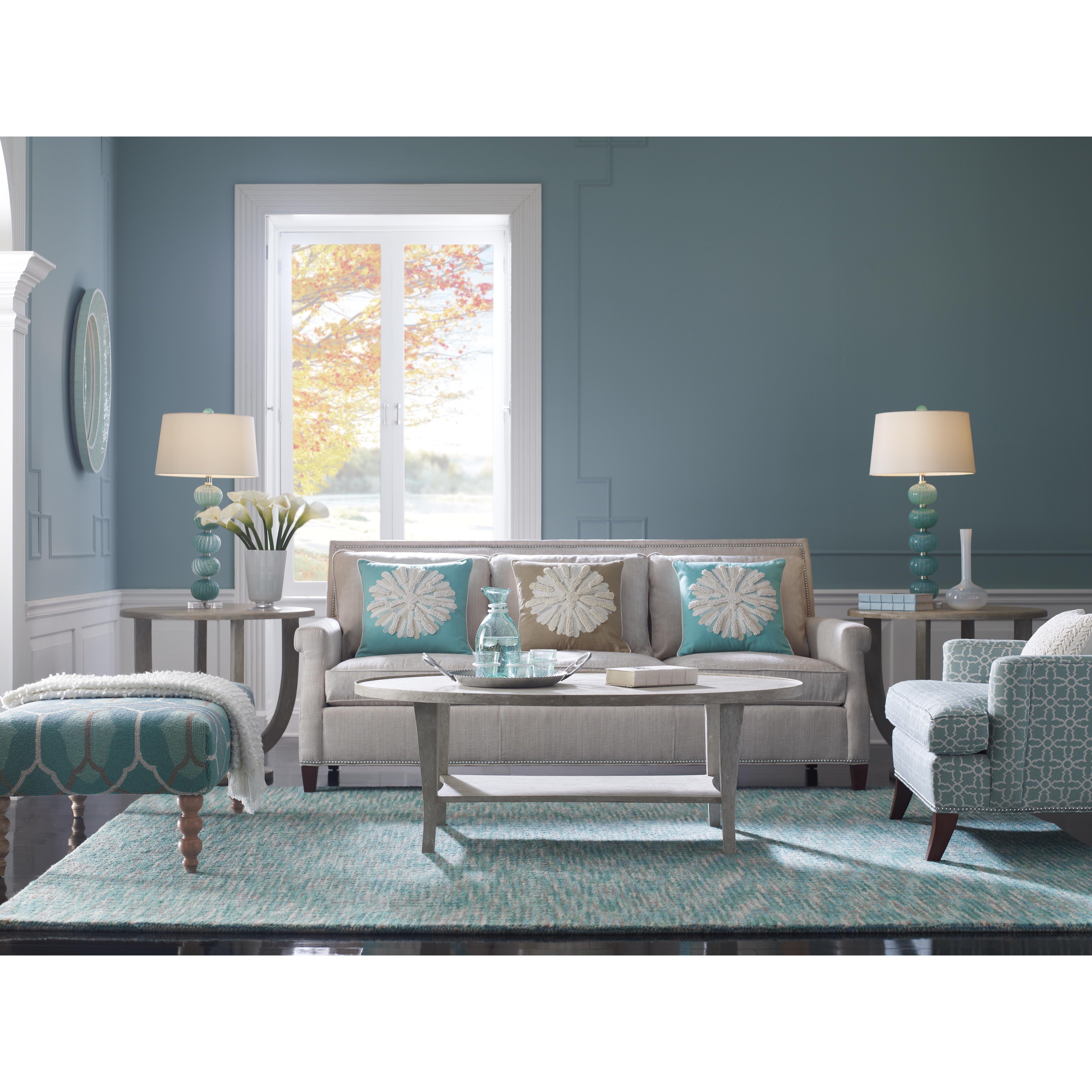 Company c tweedy lake machine woven blue area rug