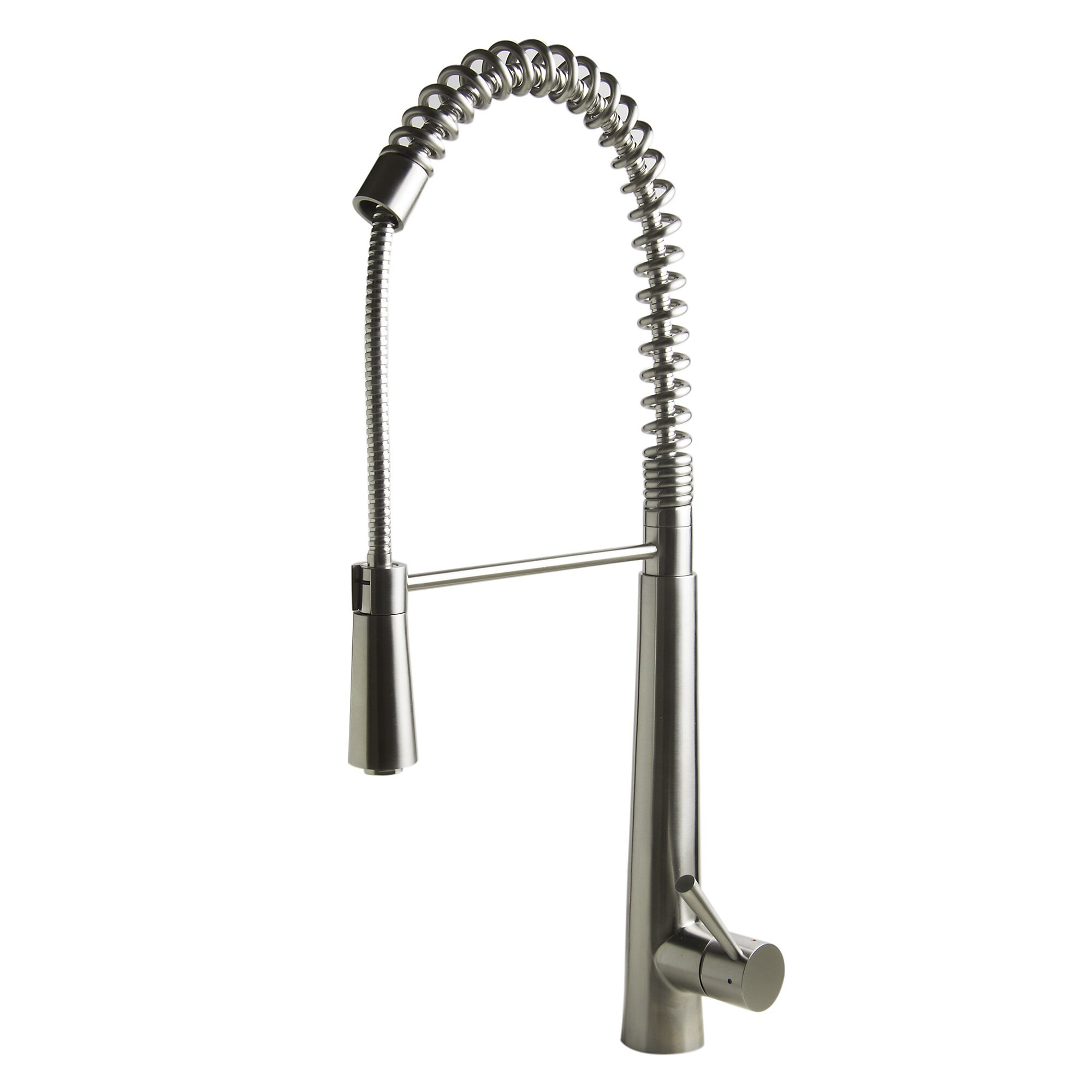 attractive Spring Faucet Kitchen #5: Alfi Brand Single Handle Deck Mount Commercial Spring Kitchen Faucet