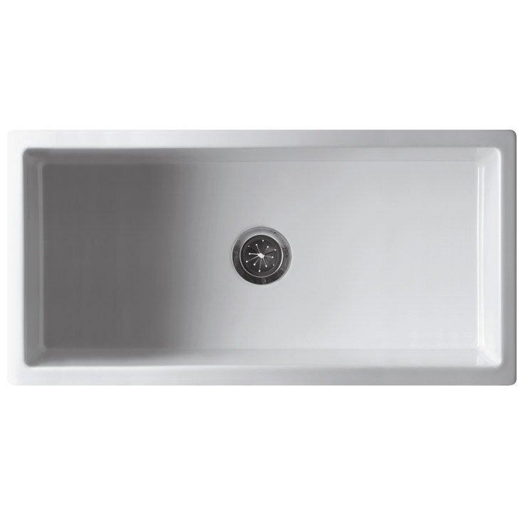 "alfi brand "" x "" single bowl fireclay farmhouse kitchen sink, Home decor"