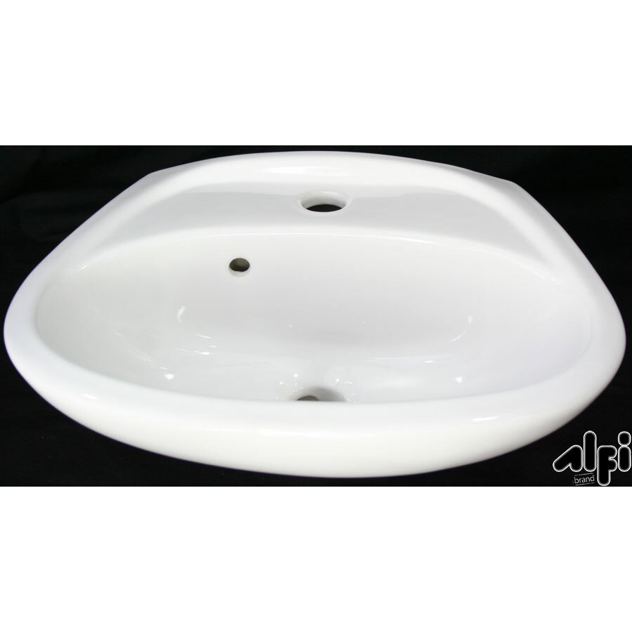 Small Wall Mount Bathroom Sink with Overflow by Alfi Brand