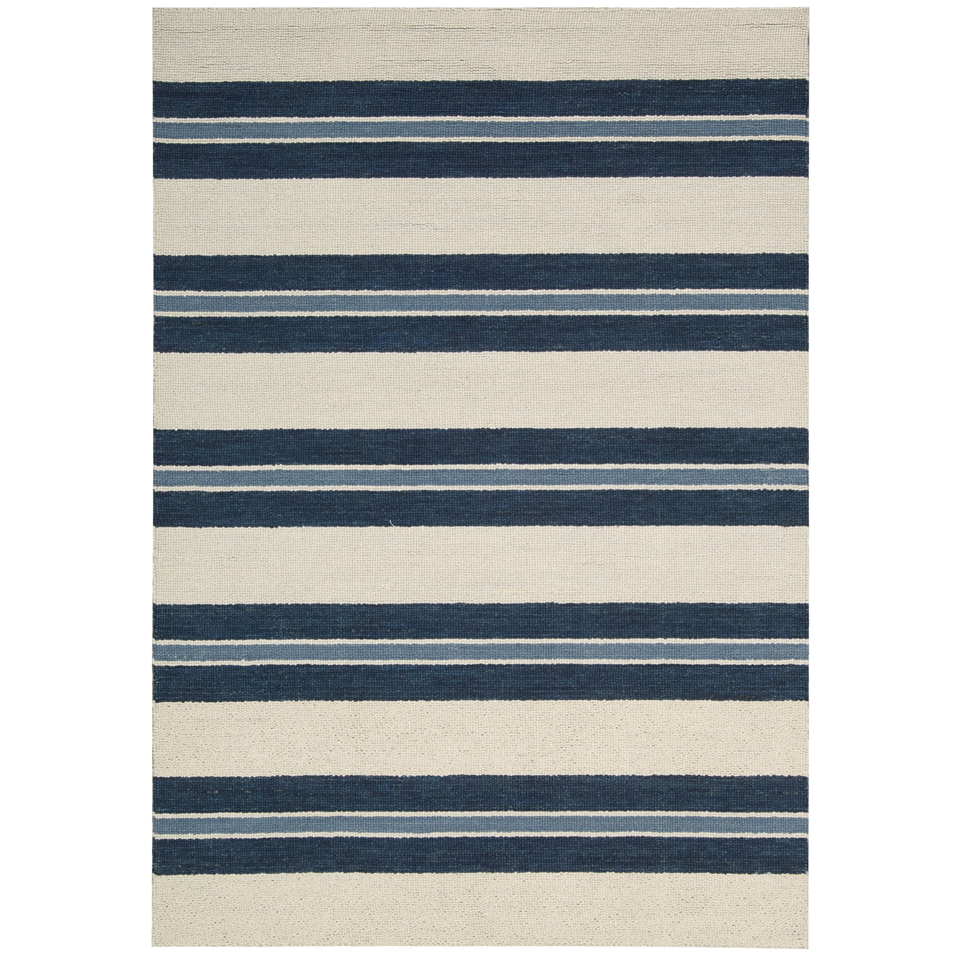 Awesome Barclay Butera Lifestyle Oxford Navy/Ivory Awning Stripe Area Rug