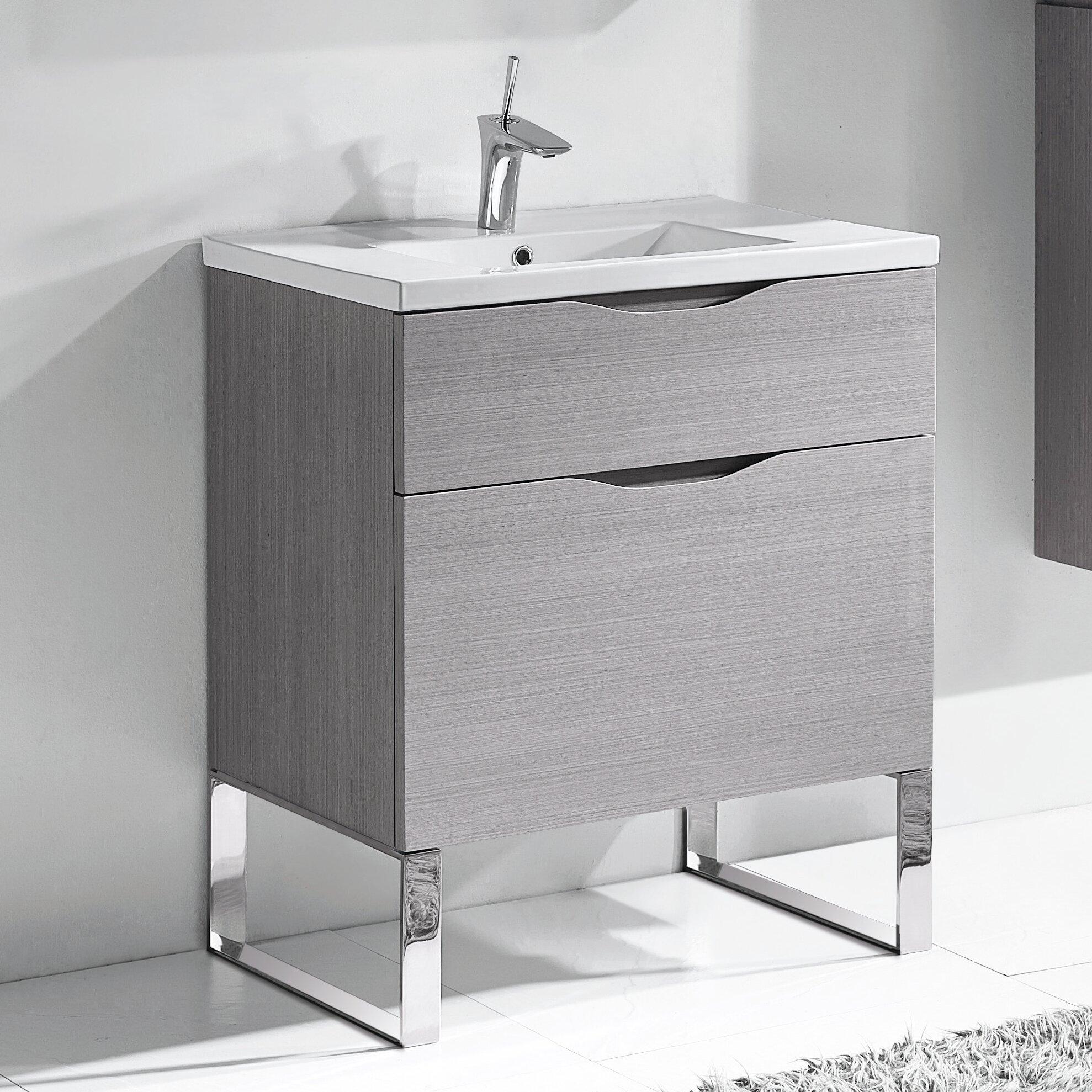 30 Bathroom Cabinet Madeli Milano 30 Bathroom Vanity Set Wayfair