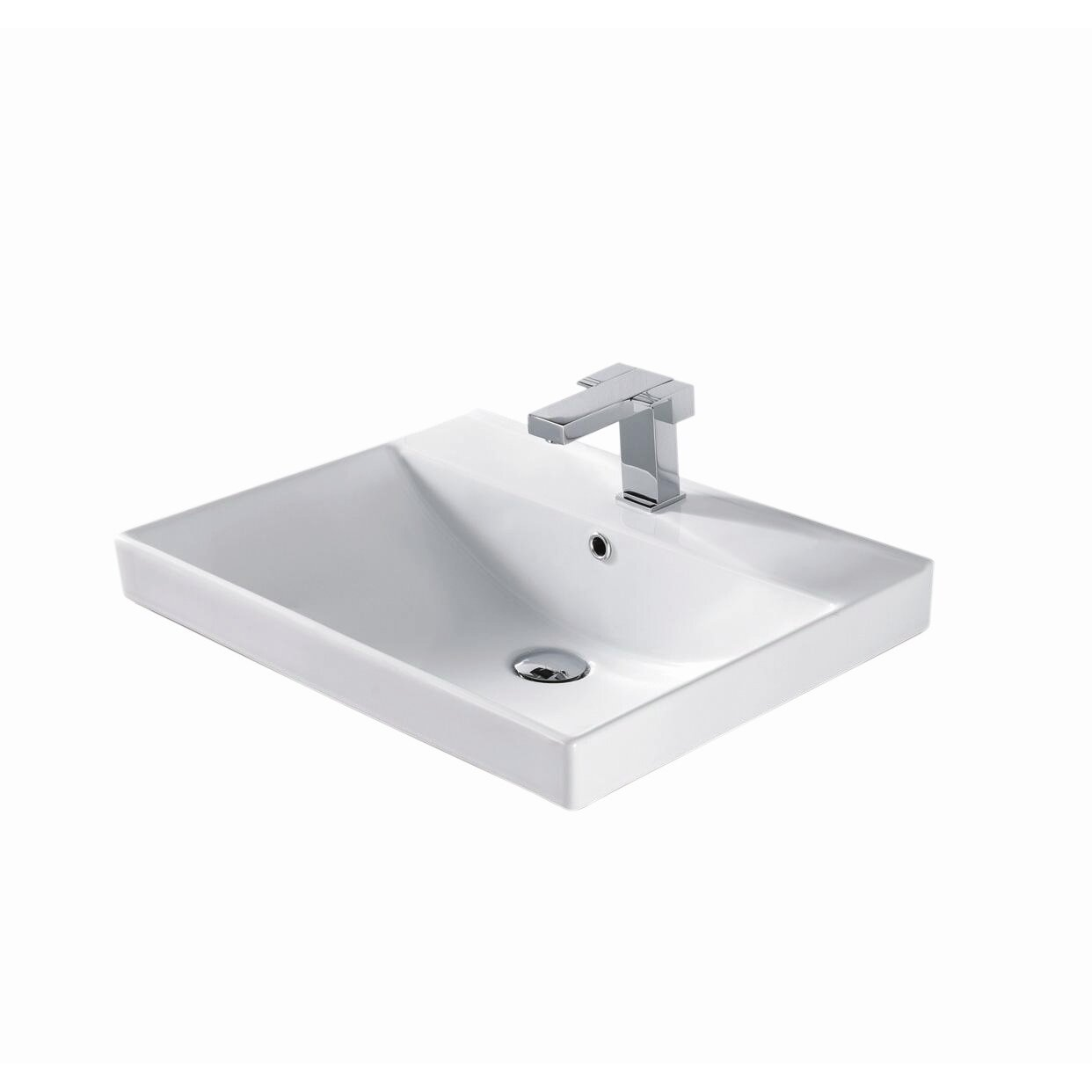 Rectangular Bathroom Sinks Madeli 24 Rectangular Bathroom Sink Reviews Wayfair