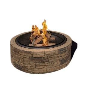 Sun Joe Cast Stone Wood Burning Fire Pit & Reviews | Wayfair