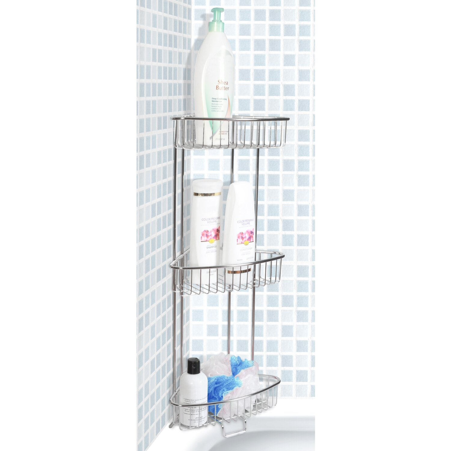Toilet Tree Products Free Standing Shower Caddy