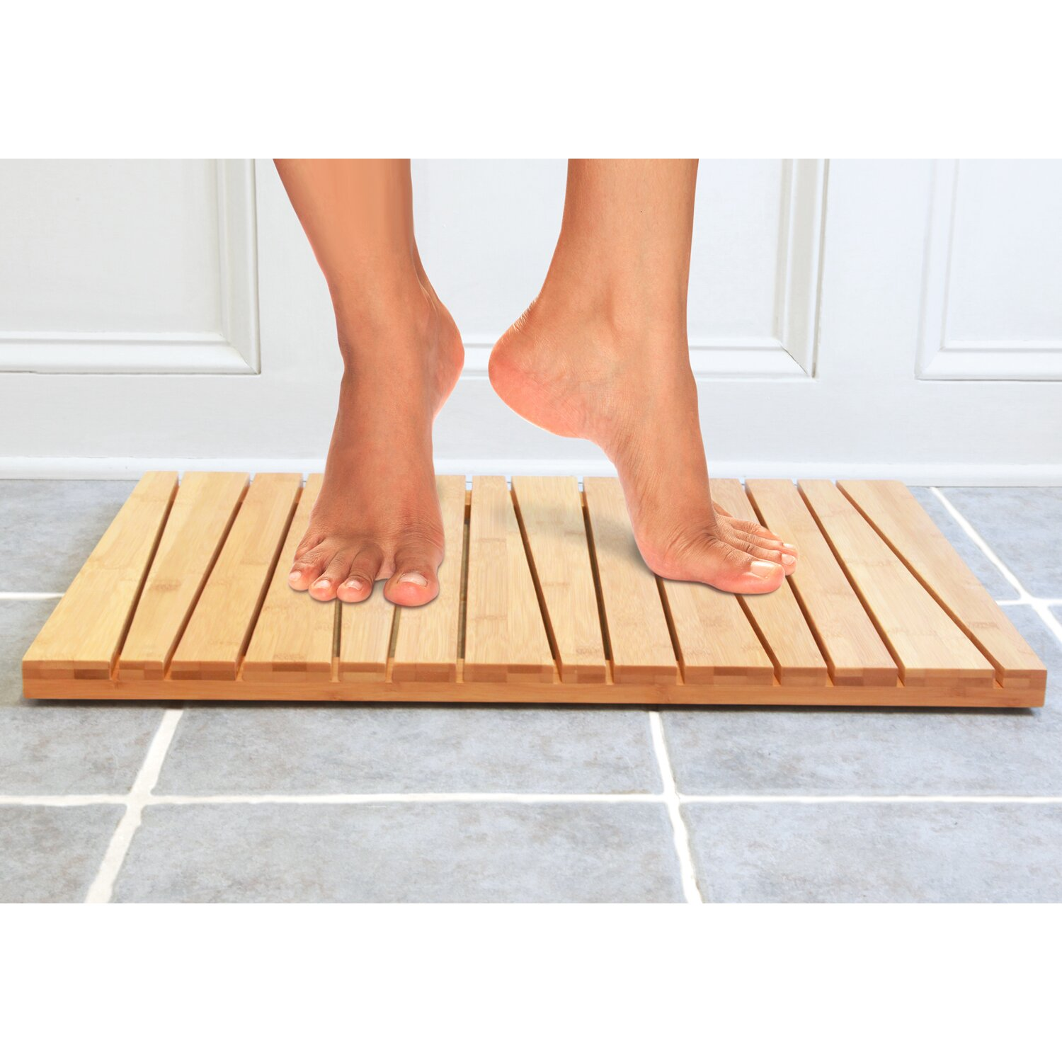 Rubber mats exeter - Toilet Tree Products Bamboo Deluxe Shower Mat