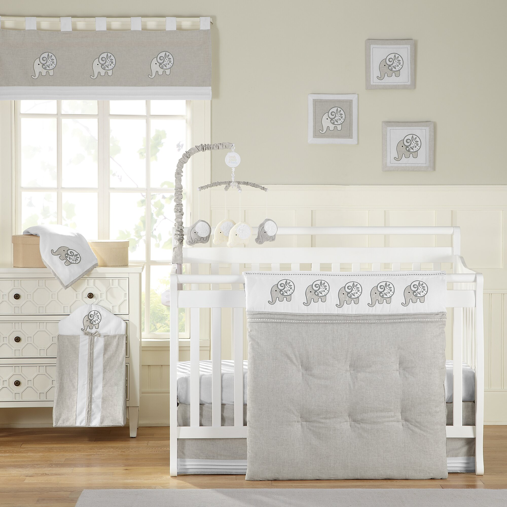 Best crib sheets for baby - Elephant Chic 11 Piece Crib Bedding Set