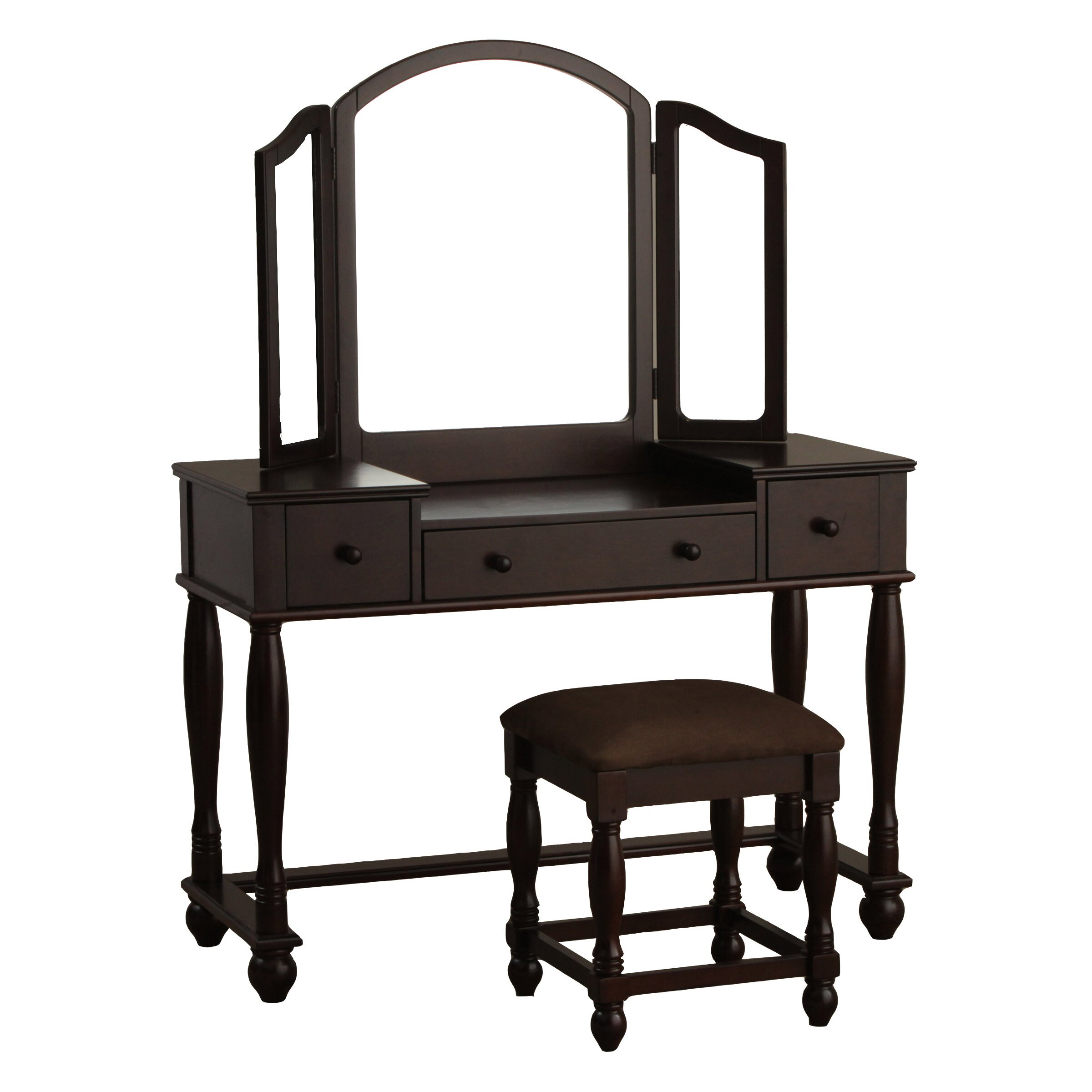 Powell vanity set with mirror reviews for Vanity mirror sets furniture