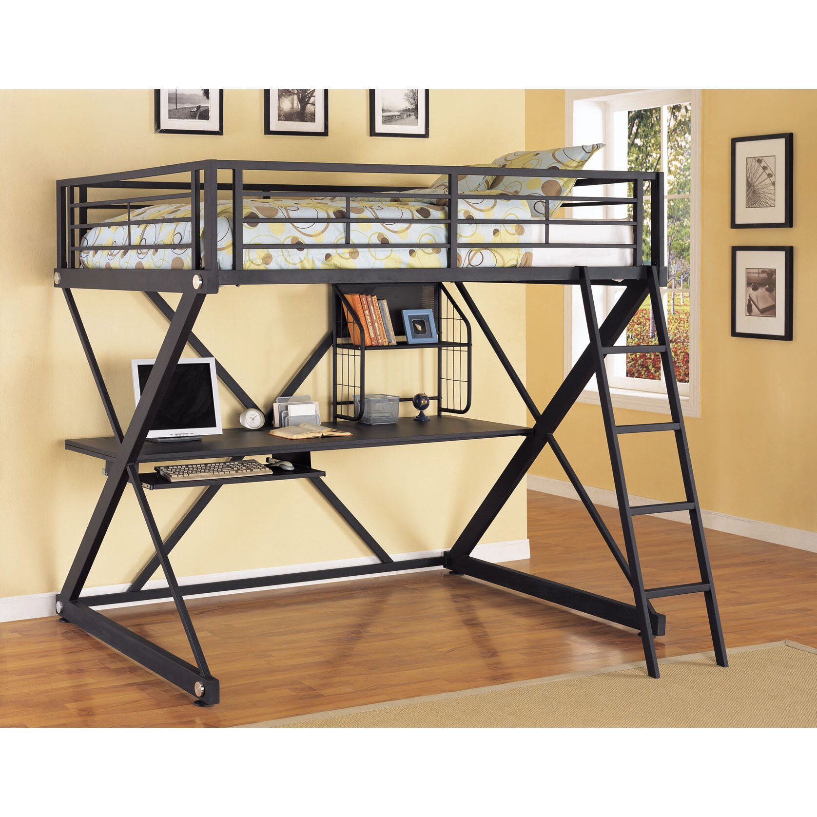 Bunk beds for adults with desk - Z Bedroom Full Over Full Loft Bed