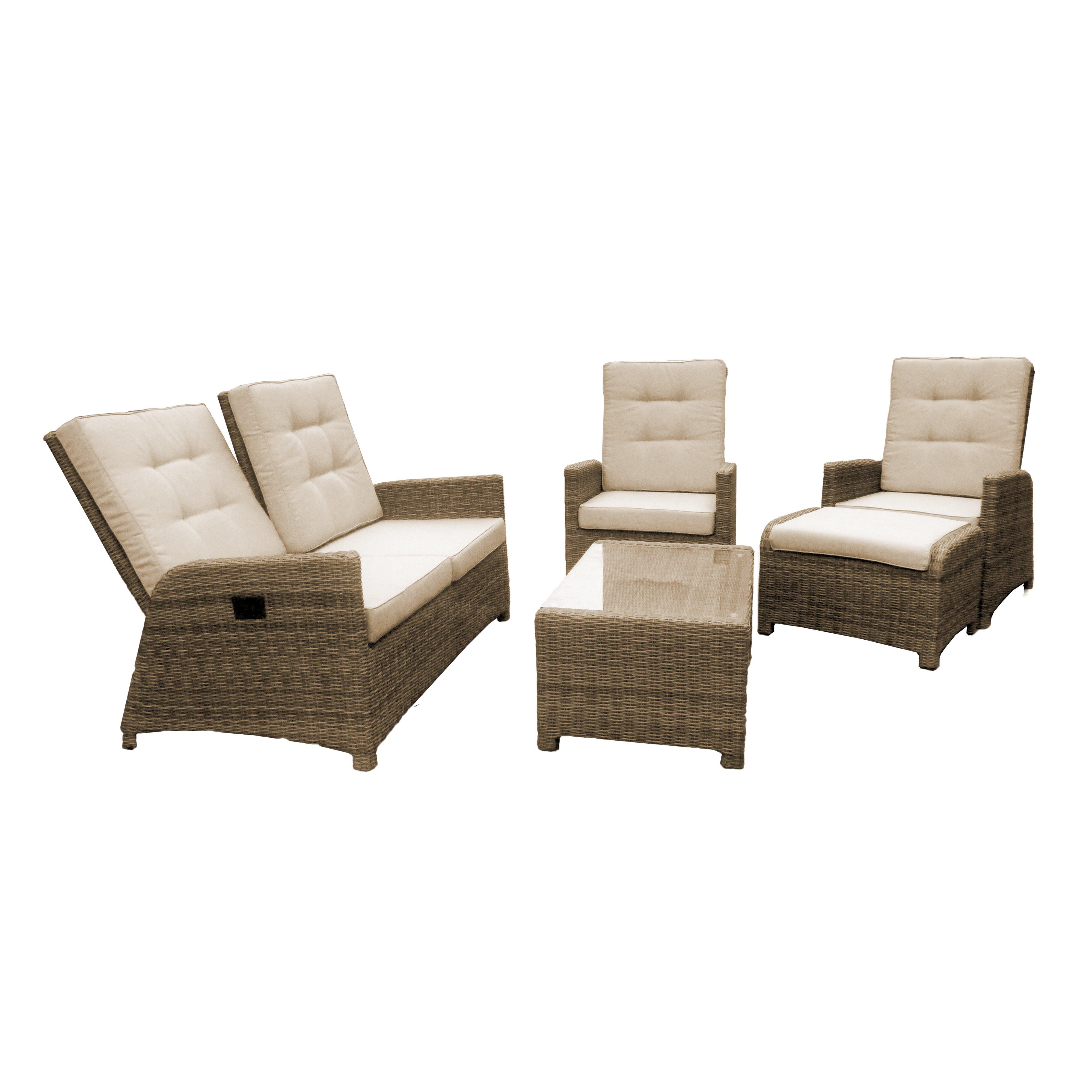 Maze Rattan Half Moon Sofa Set Grey Scandlecandlecom