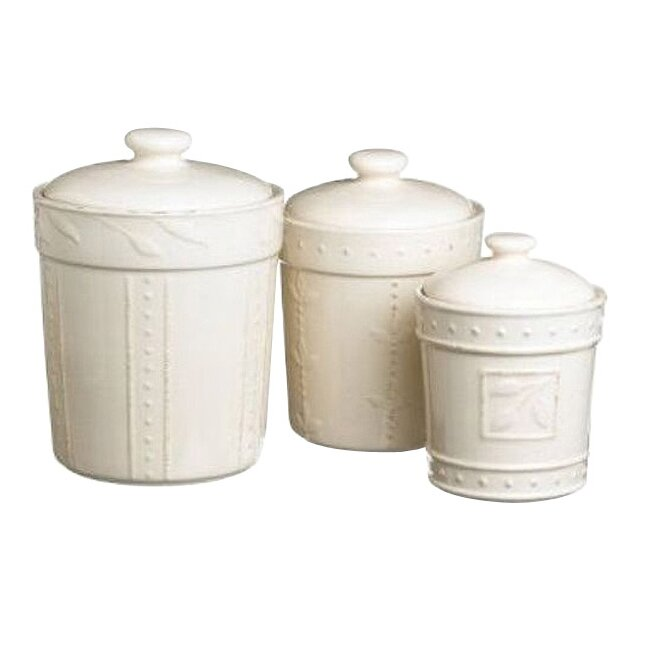 Signature housewares 3 piece sorrento canister lid set for Hearth and home designs canister set