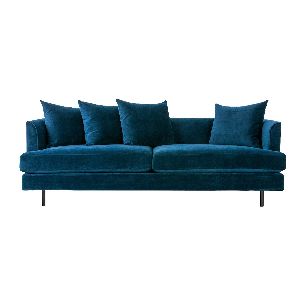 margot sofa with cushions reviews allmodern. Black Bedroom Furniture Sets. Home Design Ideas