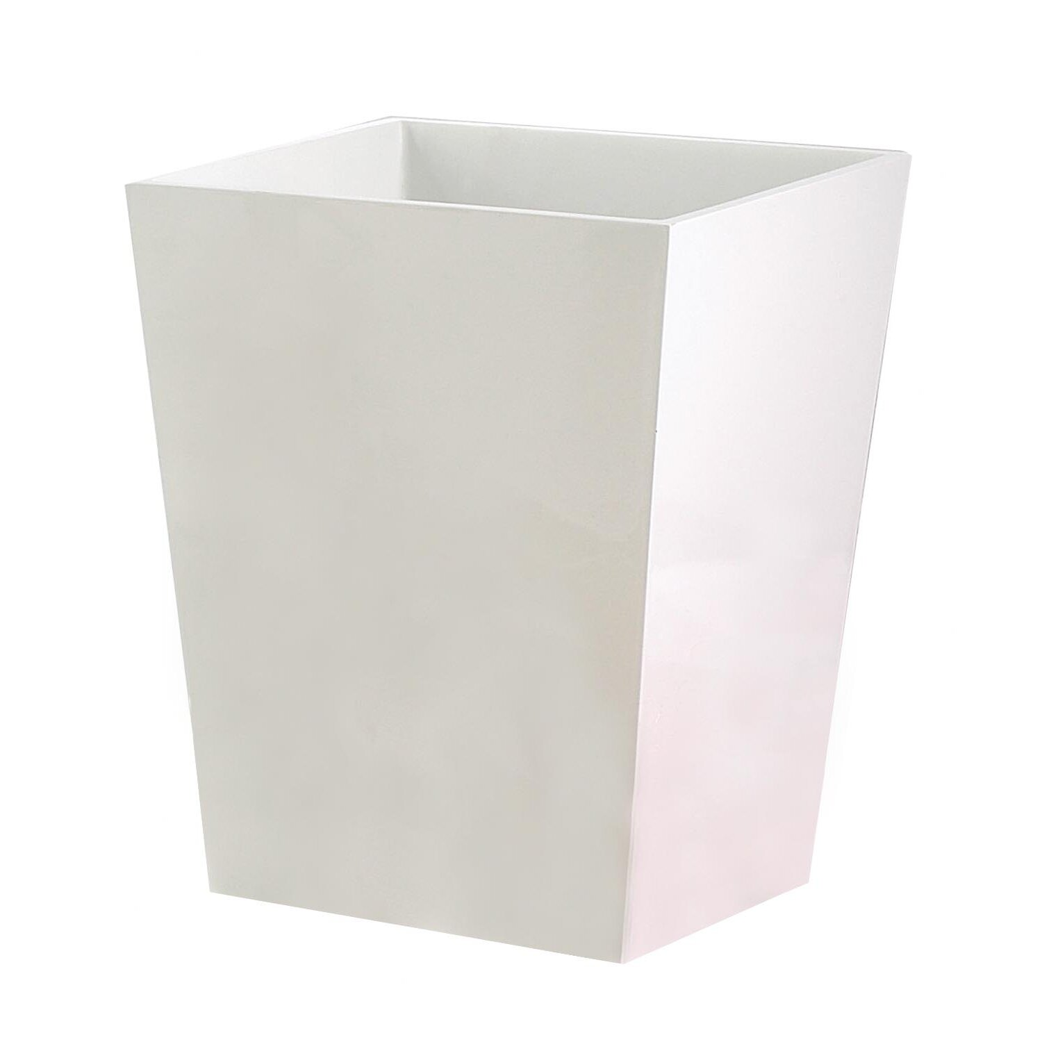 Nu steel elegant gallon plastic trash can reviews wayfair - Elegant wastebasket ...