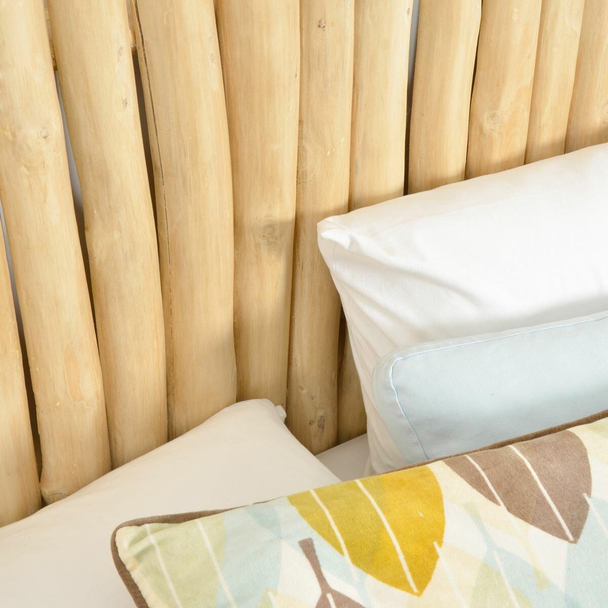 tikamoon bois flotte driftwood river panel double headboard reviews wayfair uk. Black Bedroom Furniture Sets. Home Design Ideas