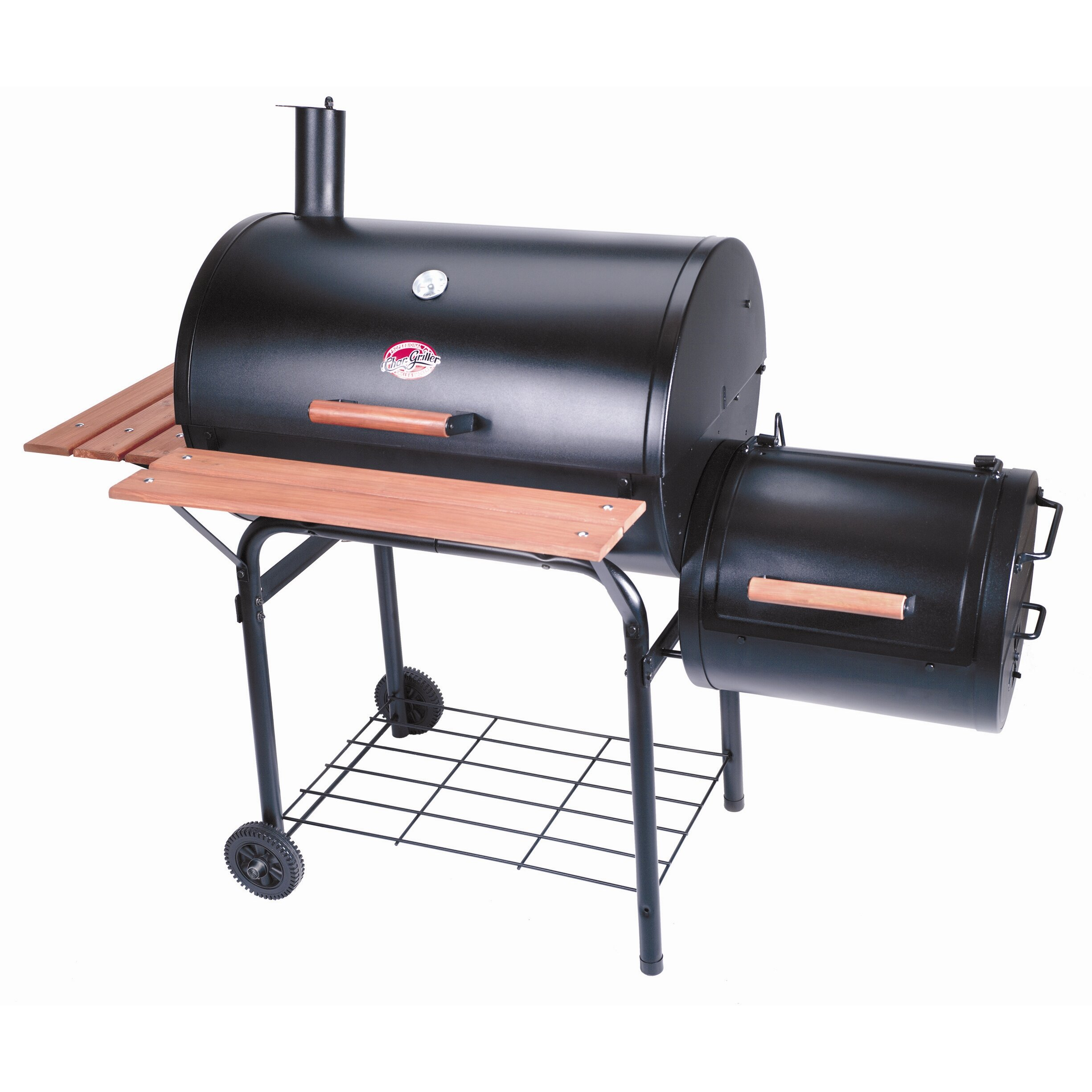 char griller smokin pro charcoal grill smoker reviews wayfair. Black Bedroom Furniture Sets. Home Design Ideas