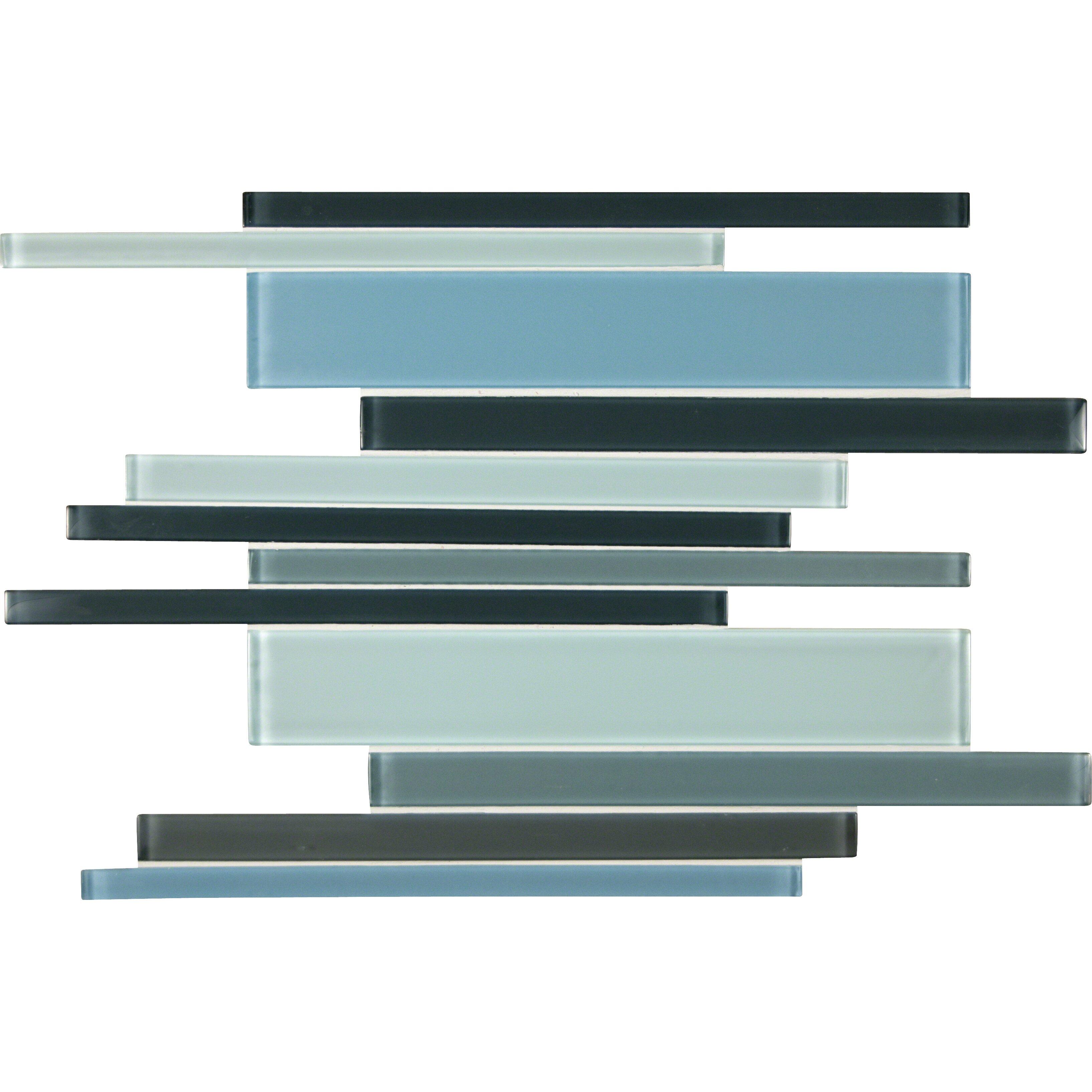 Msi Random Sized Glass Mosaic Tile In Blue Amp Reviews Wayfair