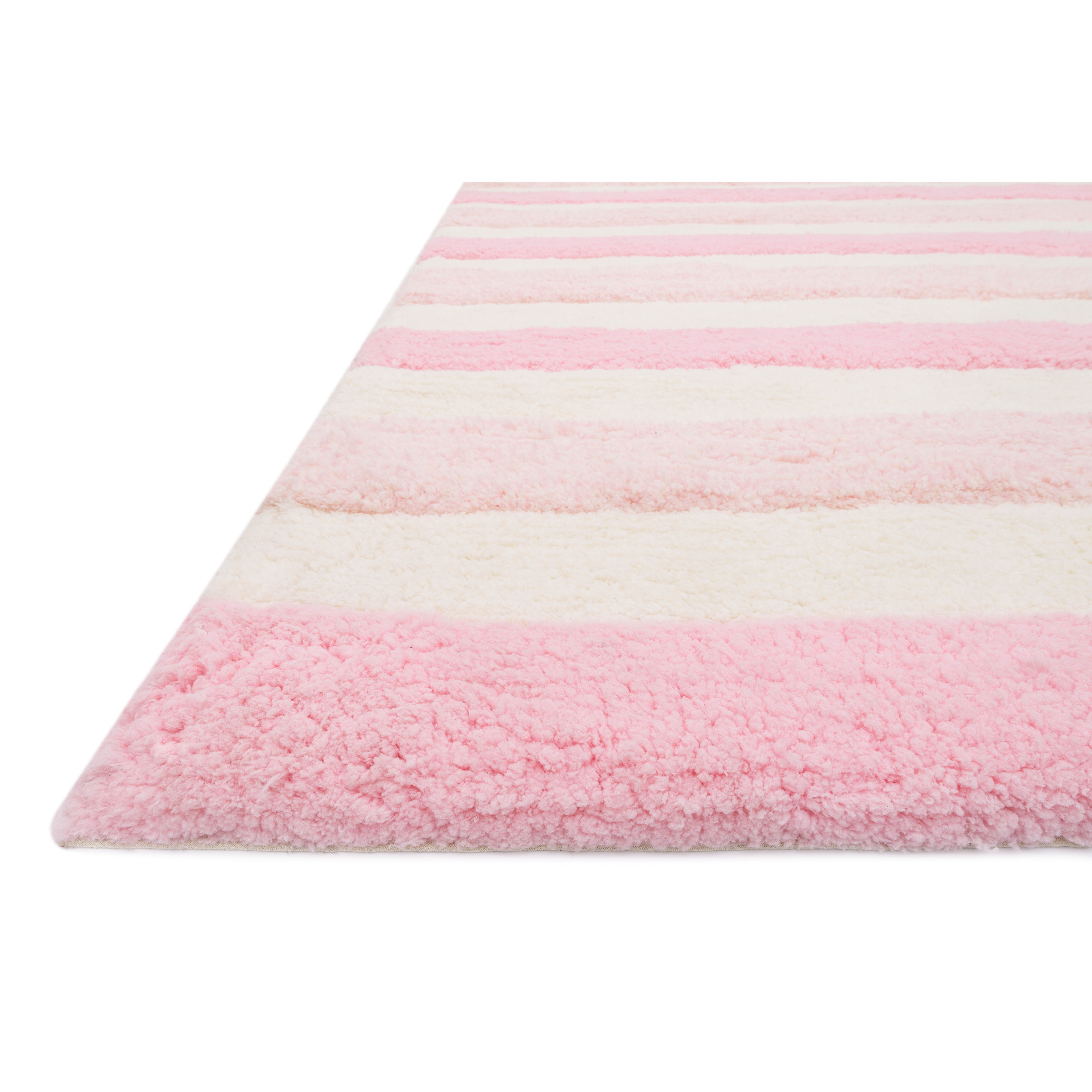 Pink And White Area Rug Home Decor