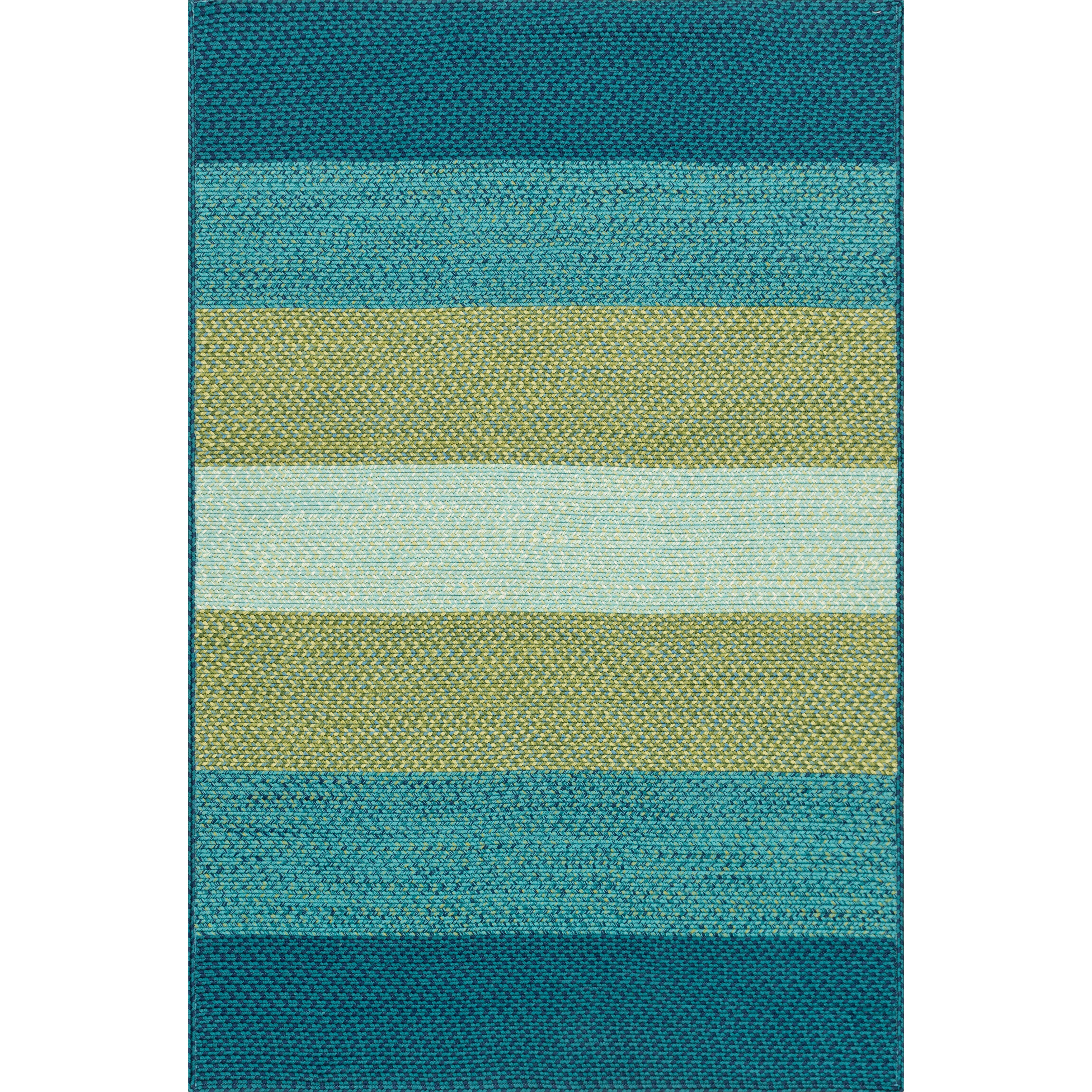 Jenson indoor outdoor rug in blue green reviews joss for Indoor outdoor carpet green