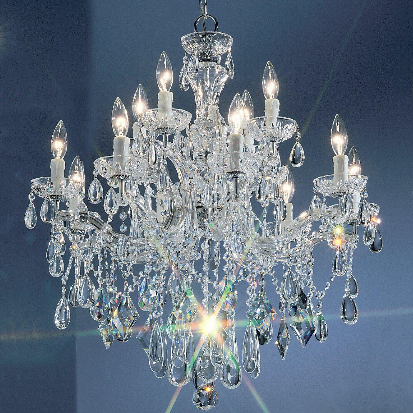 Classic Lighting Rialto 12 Light Crystal Chandelier