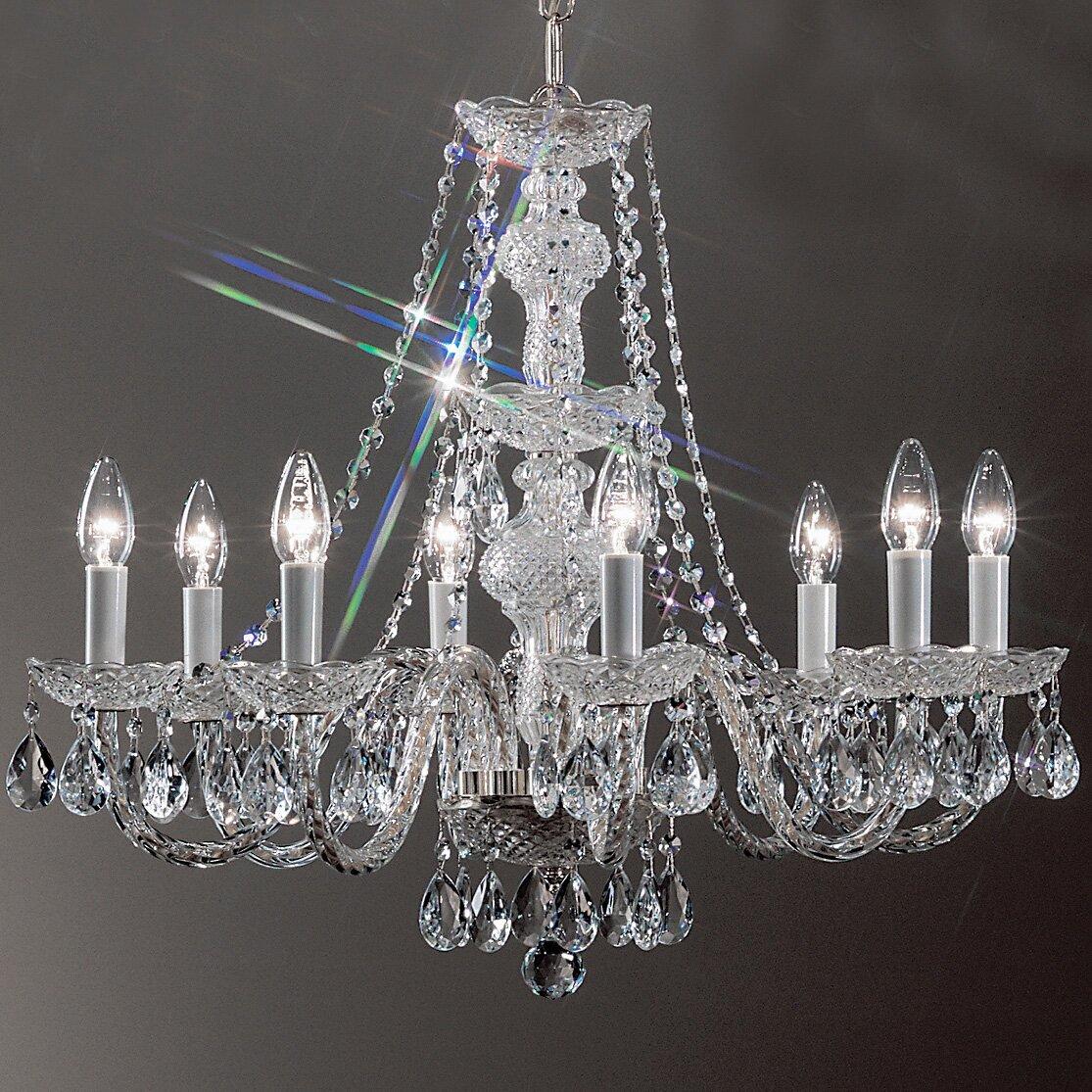 Classic Lighting Monticello 8Light Crystal Chandelier Reviews – Crystal Chandelier Lights