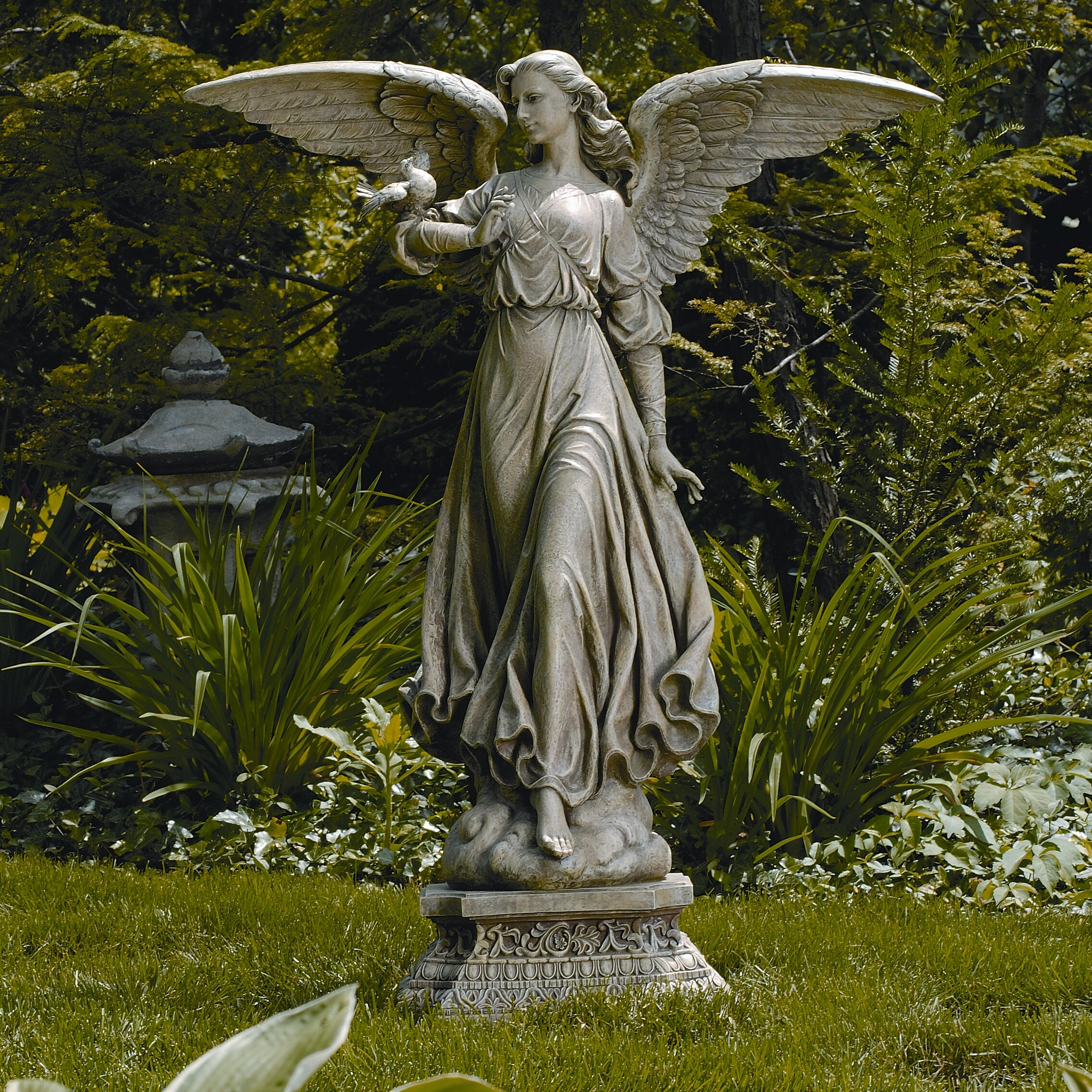 Roman Inc Classic Angel Garden Statue Reviews Wayfair