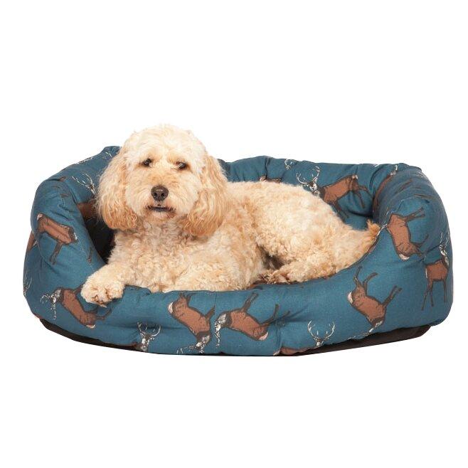 danish design woodland stag deluxe slumber pet bed in. Black Bedroom Furniture Sets. Home Design Ideas