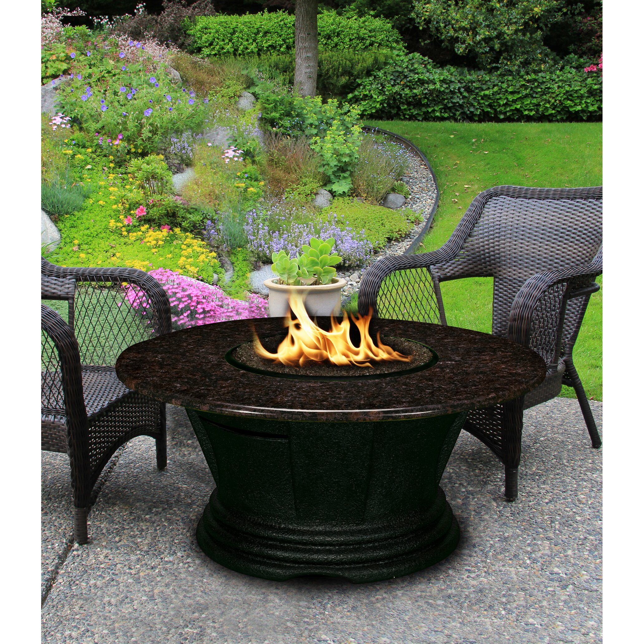 San Simeon Natural Gas Fire Pit Table
