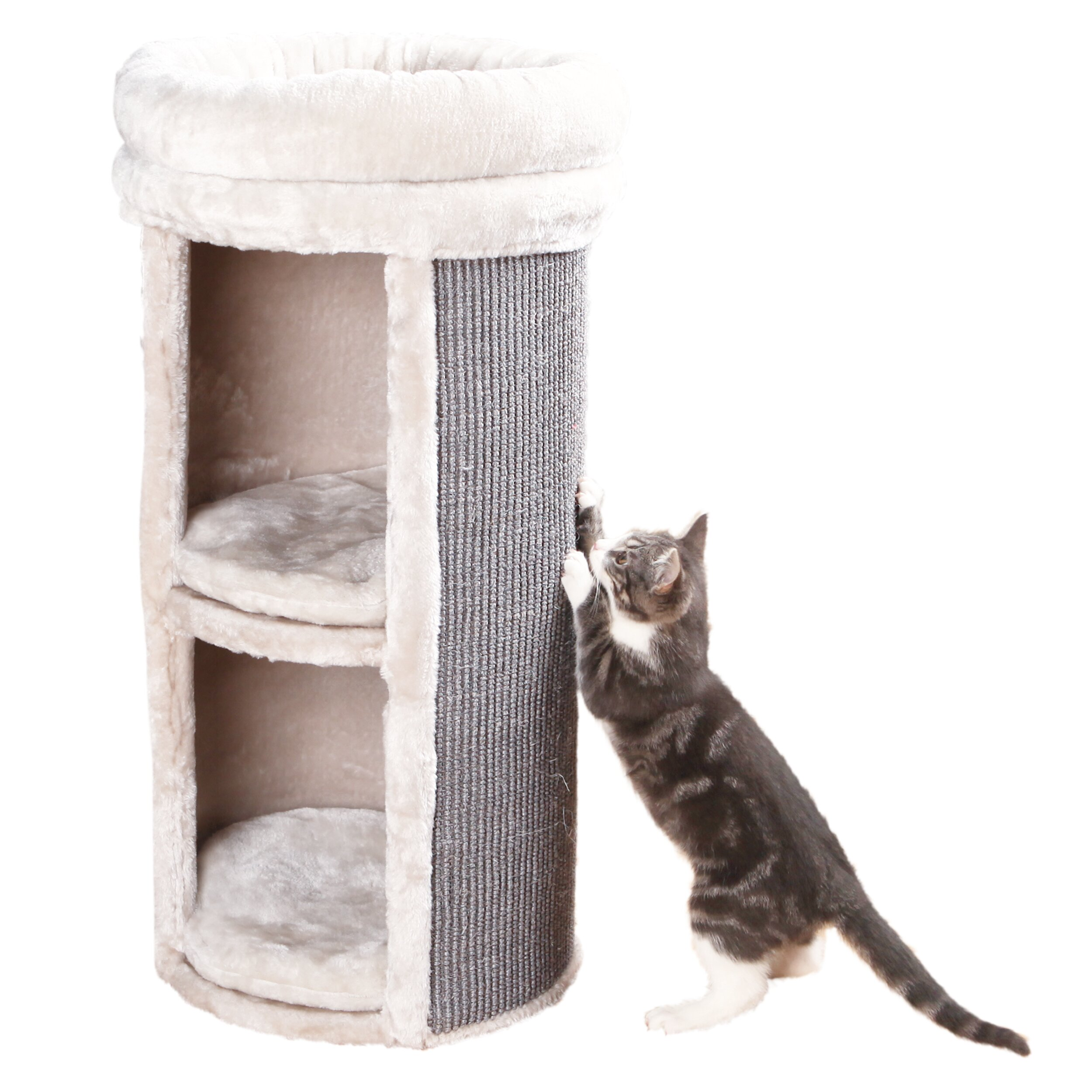 Trixie mexia 2 story cat tower scratching post reviews for Build your own cat scratch tower