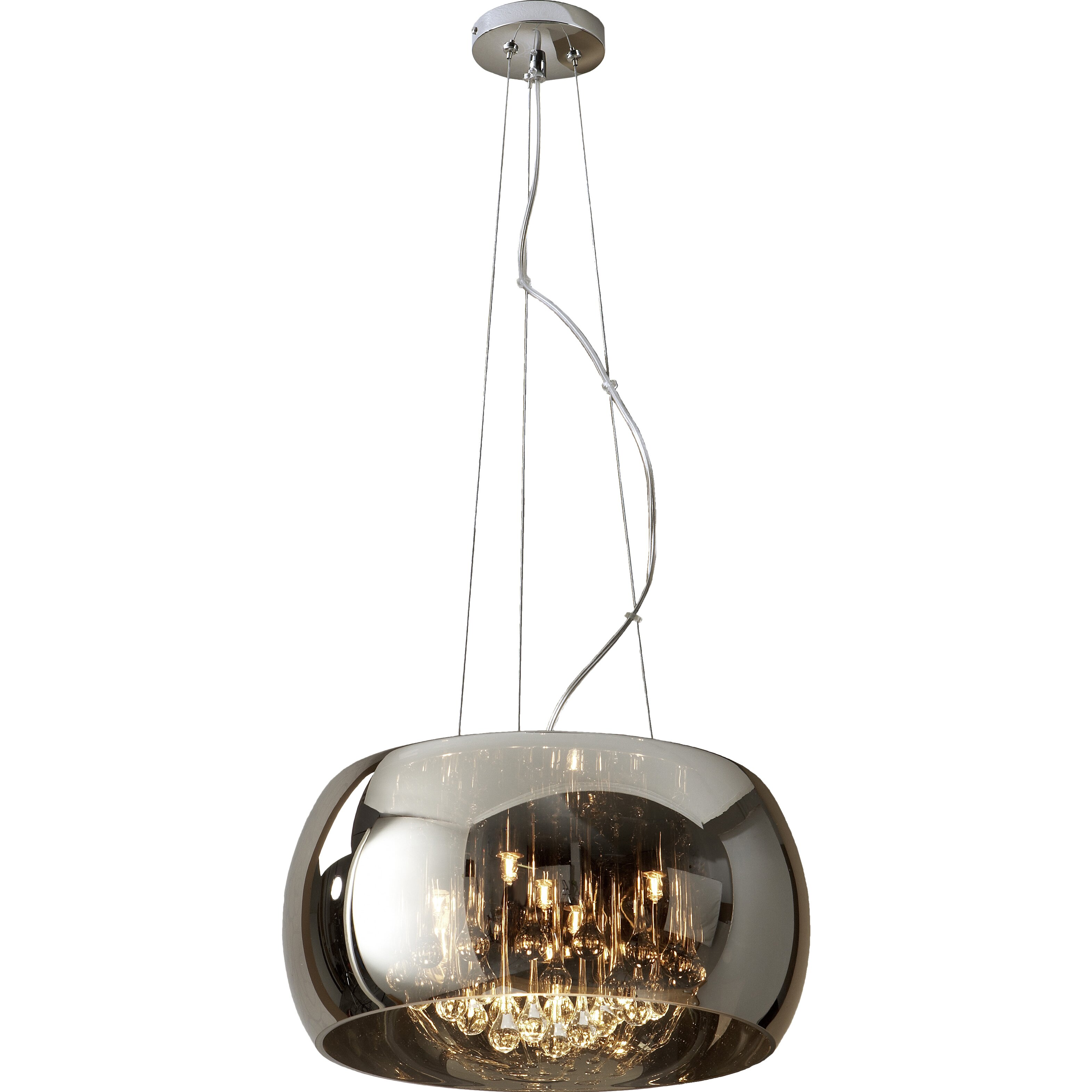 Schuller Argos 5 Light Glass Pendant & Reviews