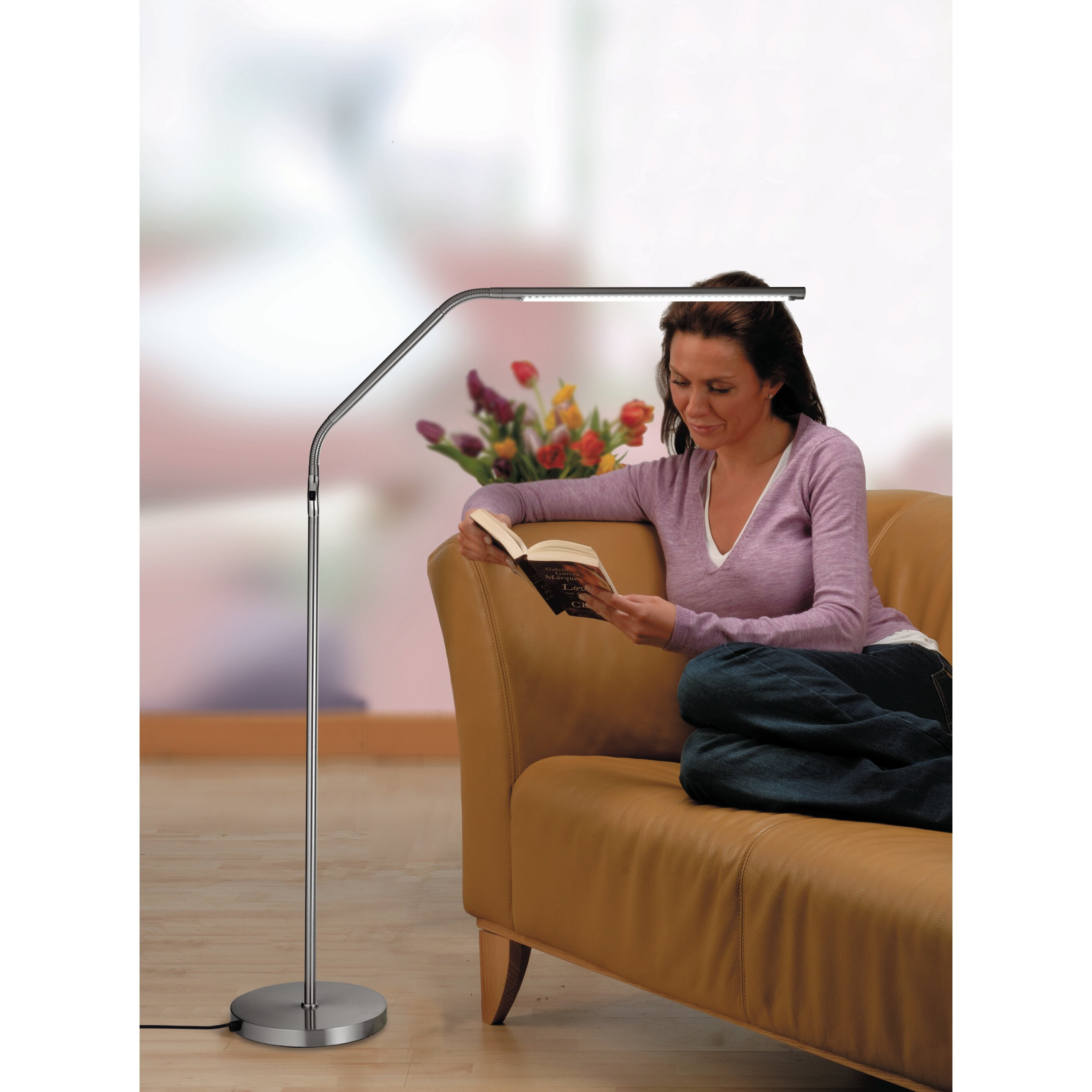 Daylight Company Slimline 51 2 Quot Led Task Floor Lamp