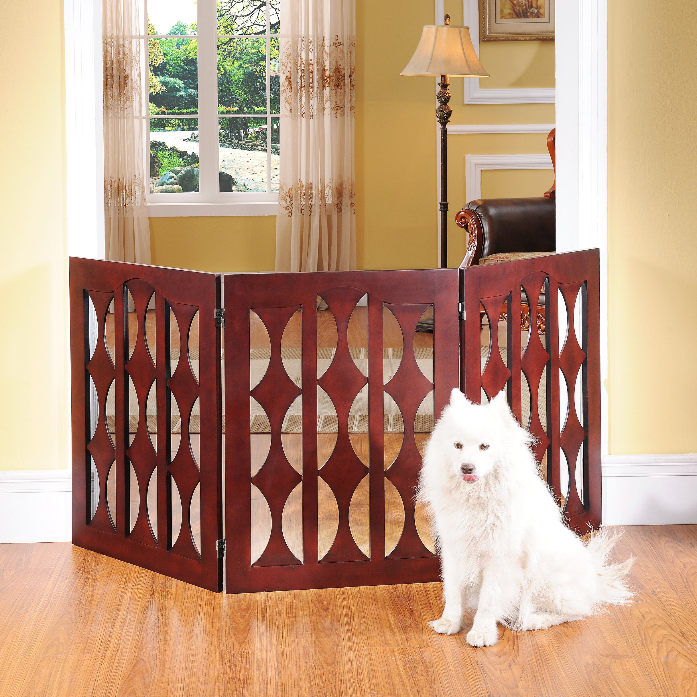 Elegant Home Fashions Gerard Dog Gate. Elegant Home Fashions Gerard Dog Gate   Reviews   Wayfair