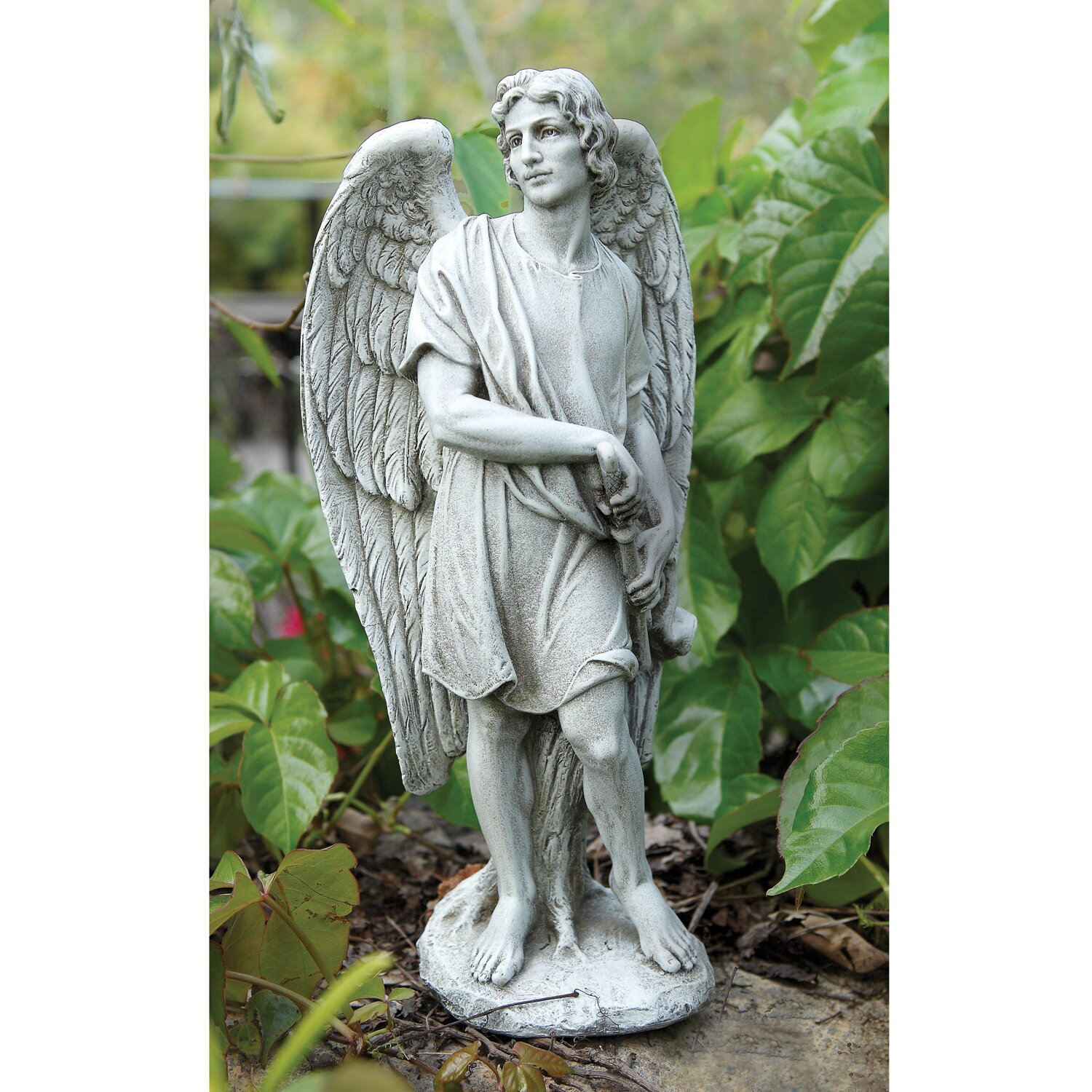 Josephs Studio Male Garden Angel Statue Reviews Wayfair