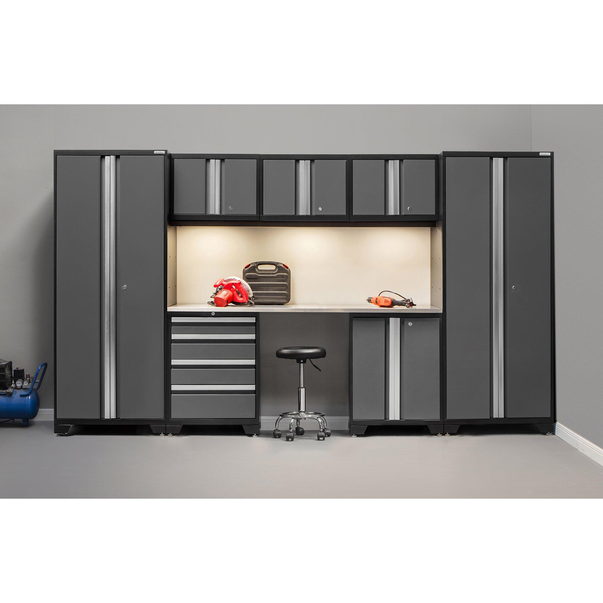 newage products bold 3 0 series 8 piece garage storage cabinet set