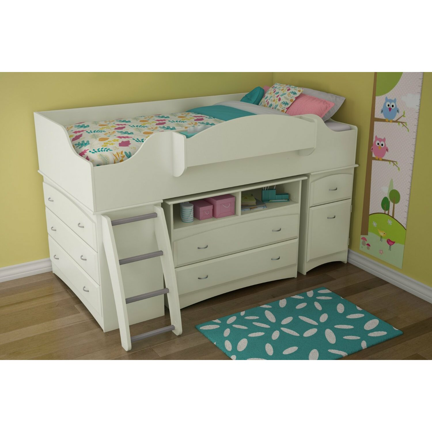 South Shore Imagine Loft Twin Bed With Storage & Reviews