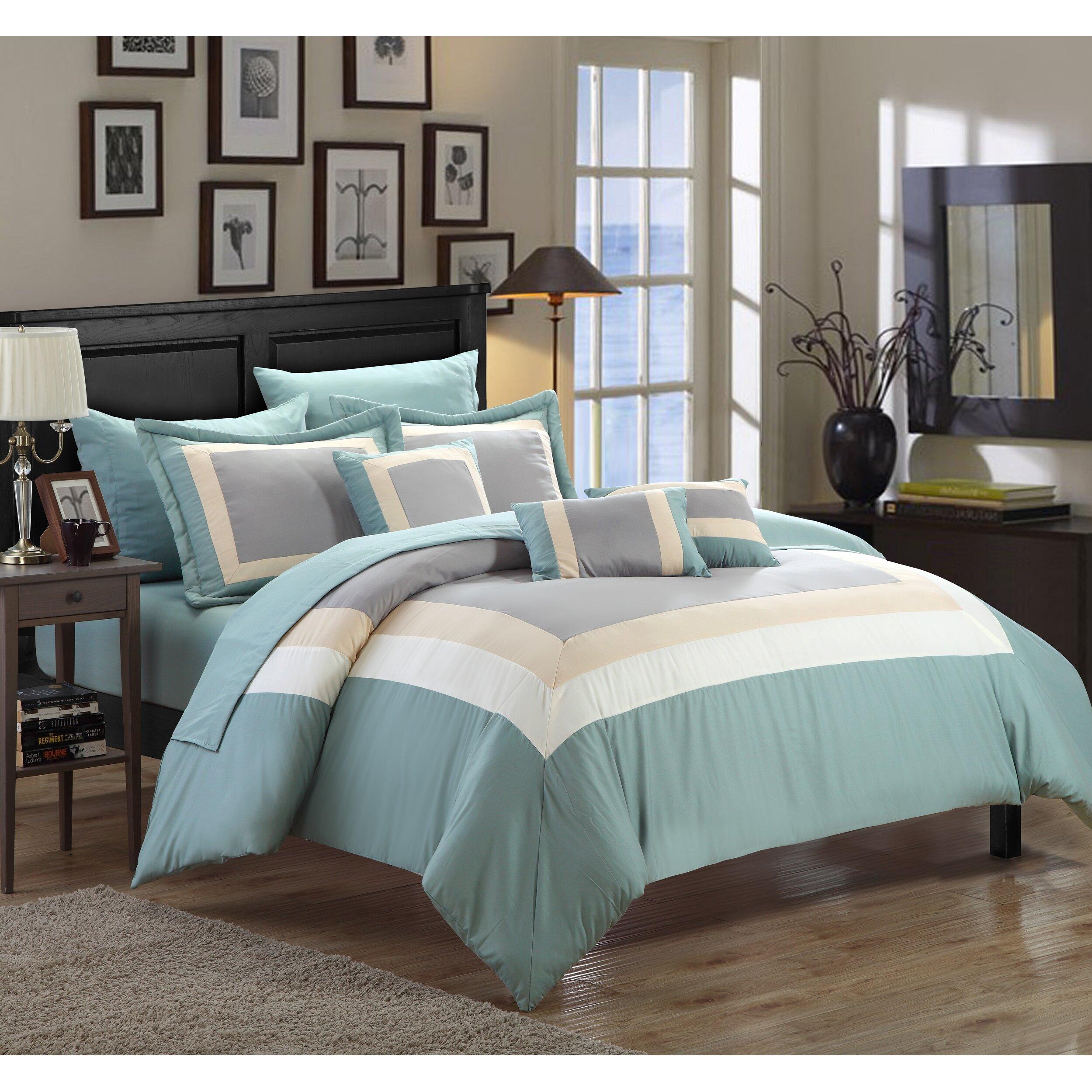 chic home duke 10 piece bed-in-a-bag set & reviews | wayfair