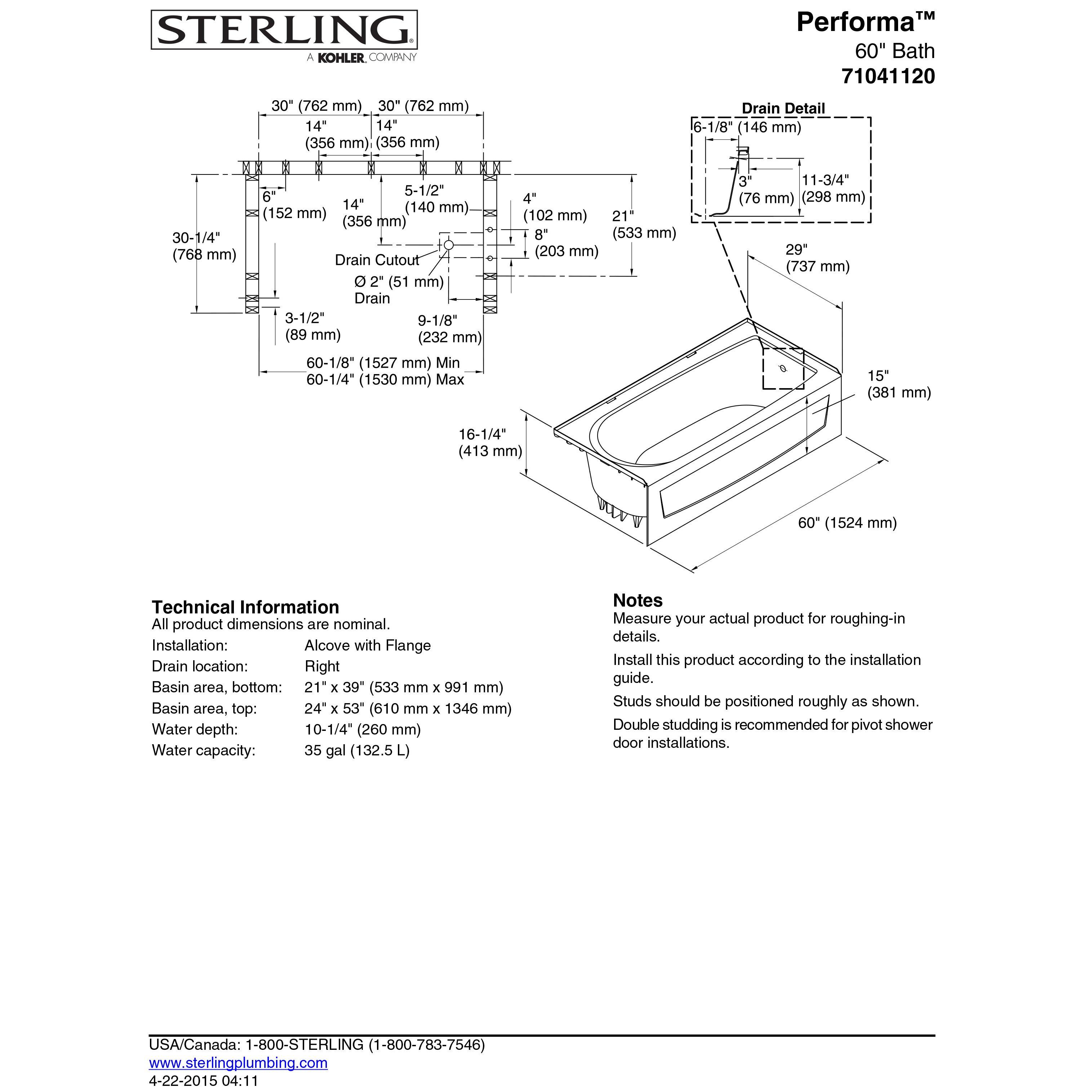sterling by kohler performa 29 soaking bathtub reviews wayfair